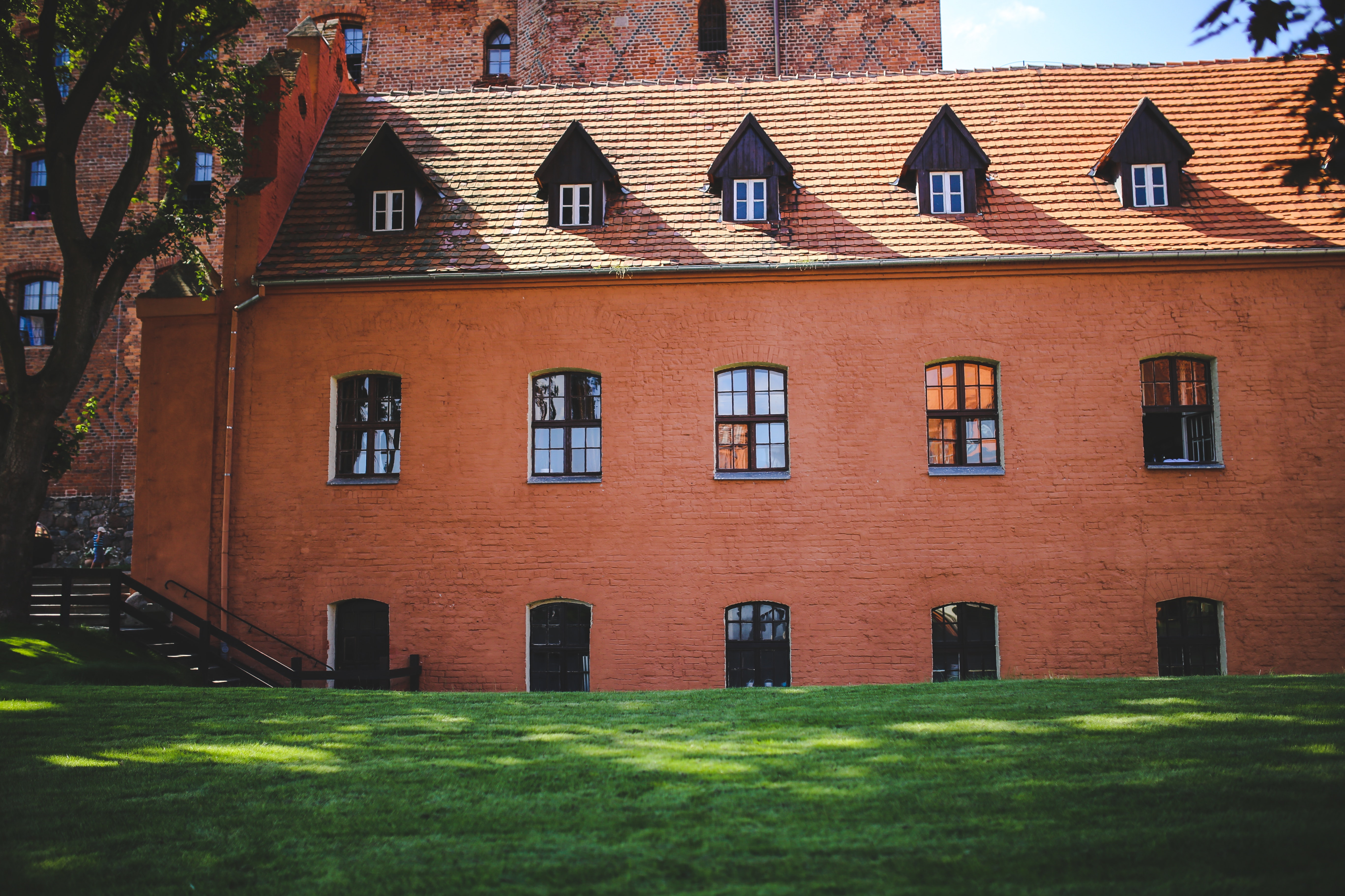 The wall of the castle, Architecture, Orange, Wall, Vintage, HQ Photo
