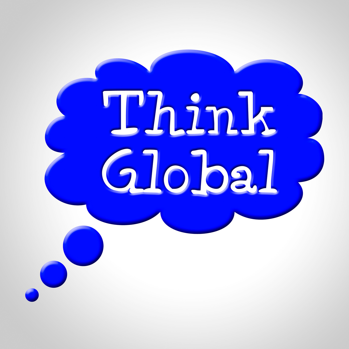 Think global means contemplation earth and consider photo