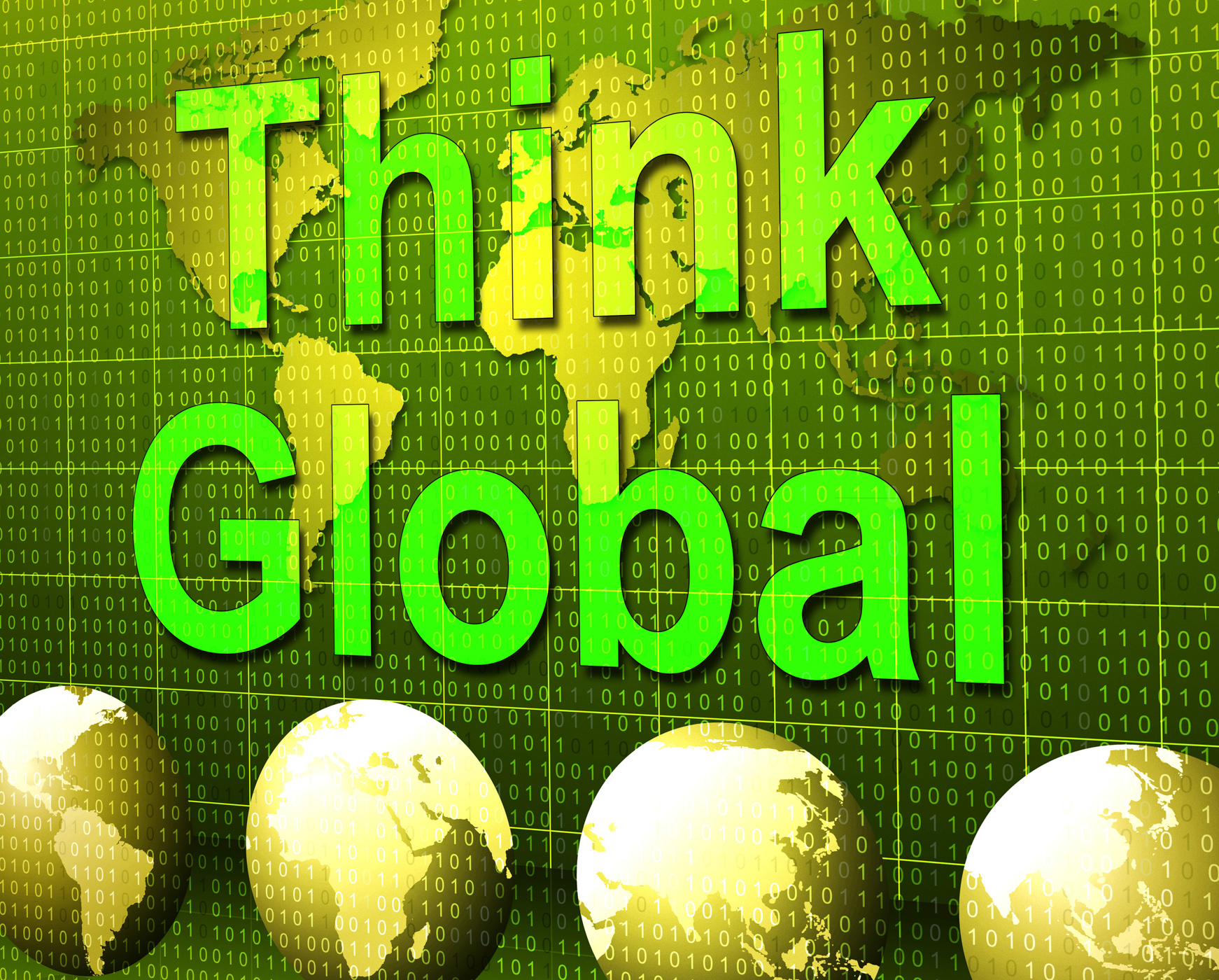 Think global represents contemplation planet and consider photo
