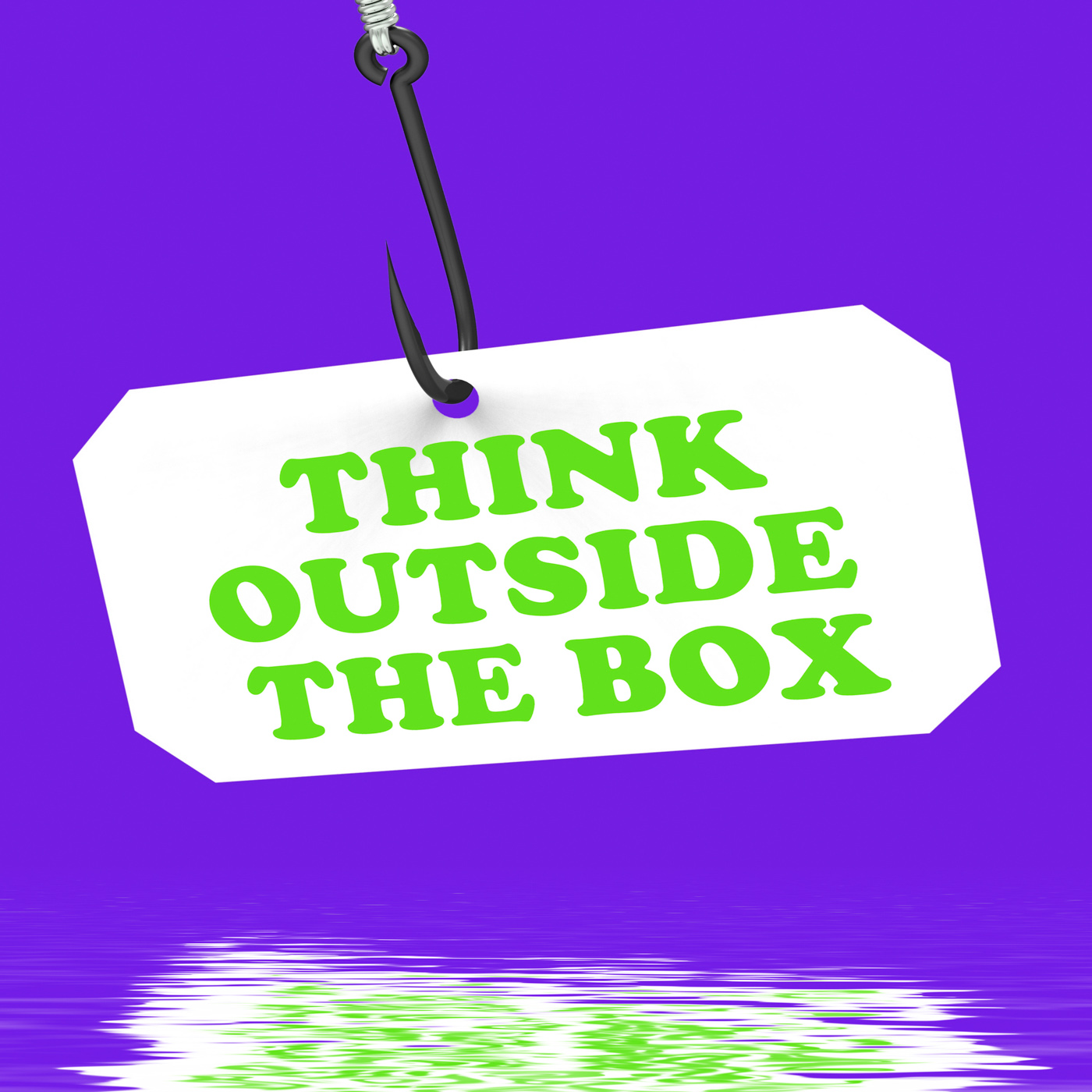 Think Outside The Box On Hook Displays Imagination And Creativity, Box, Innovation, Unconventional, ThinkOutsideTheB, HQ Photo