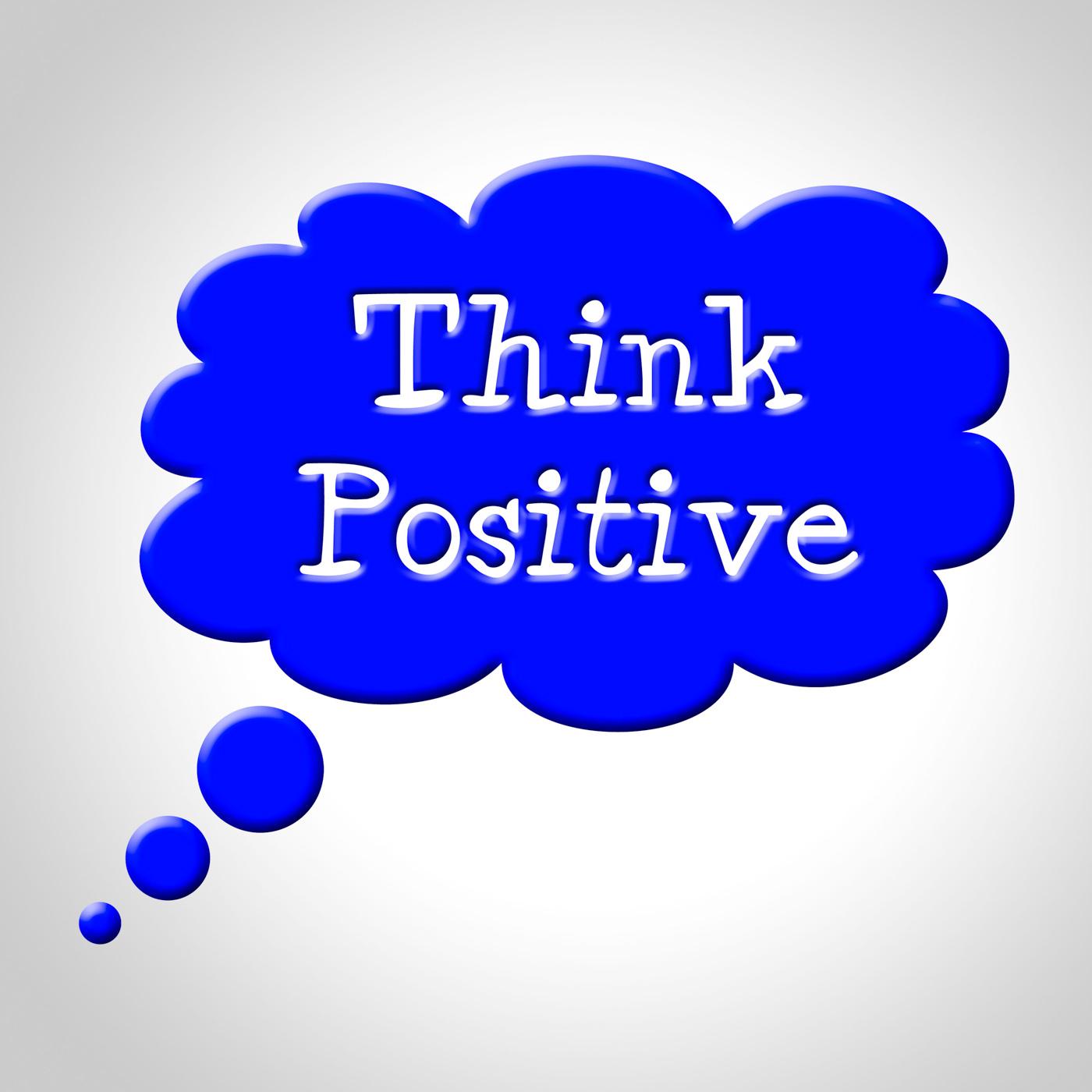 Think Positive Shows Okay Yep And For, Idea, Yep, Yeah, Thinking, HQ Photo