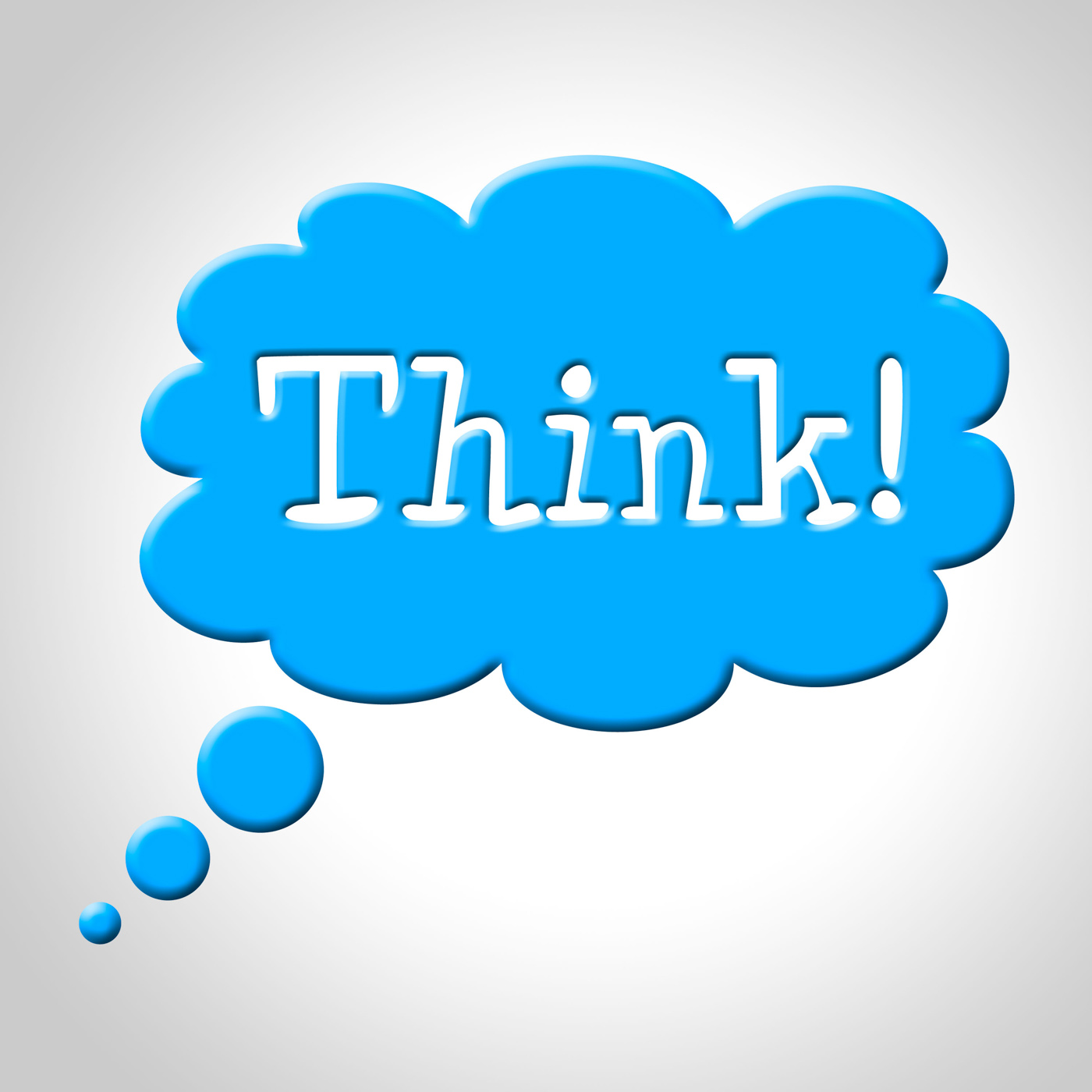 Think thought bubble means consideration plan and reflecting photo
