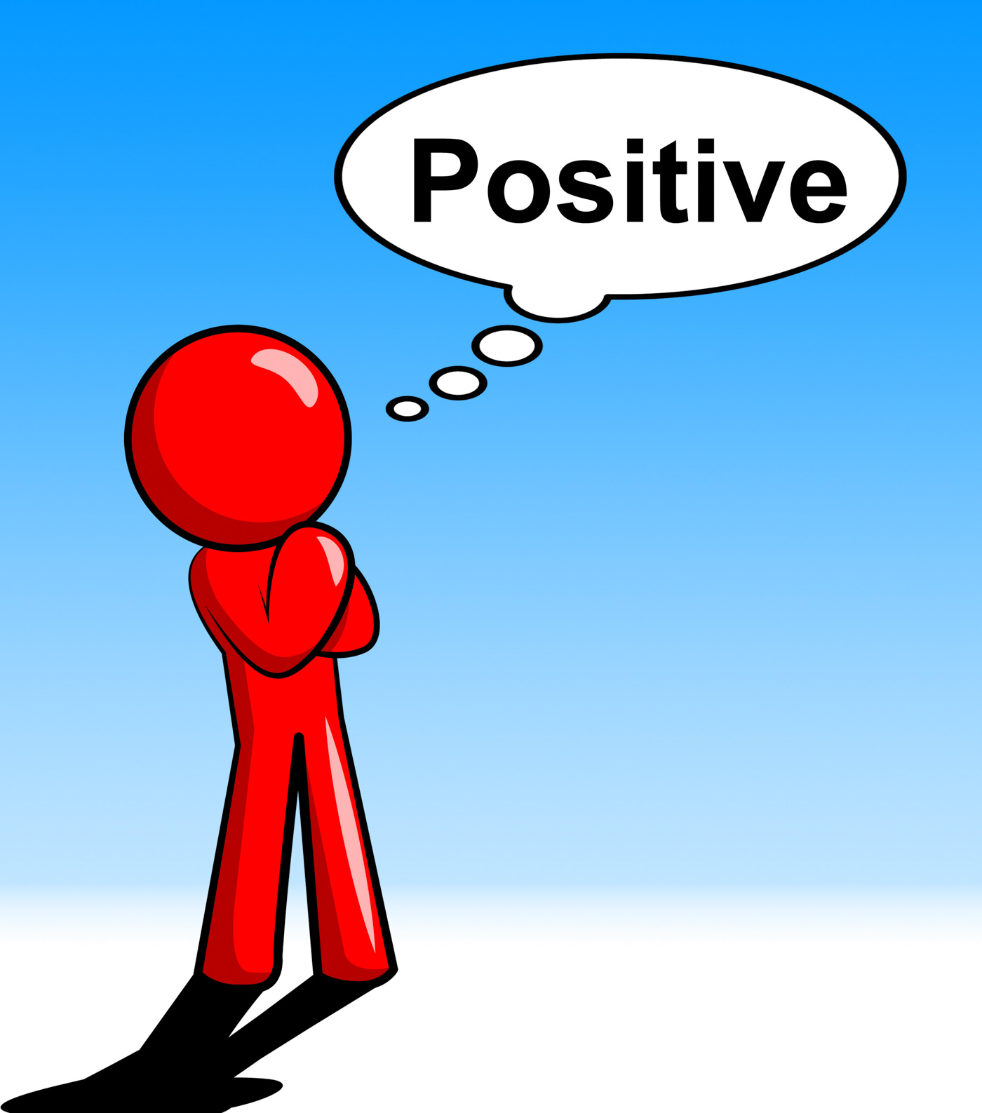 Thinking positive shows all right and ok photo