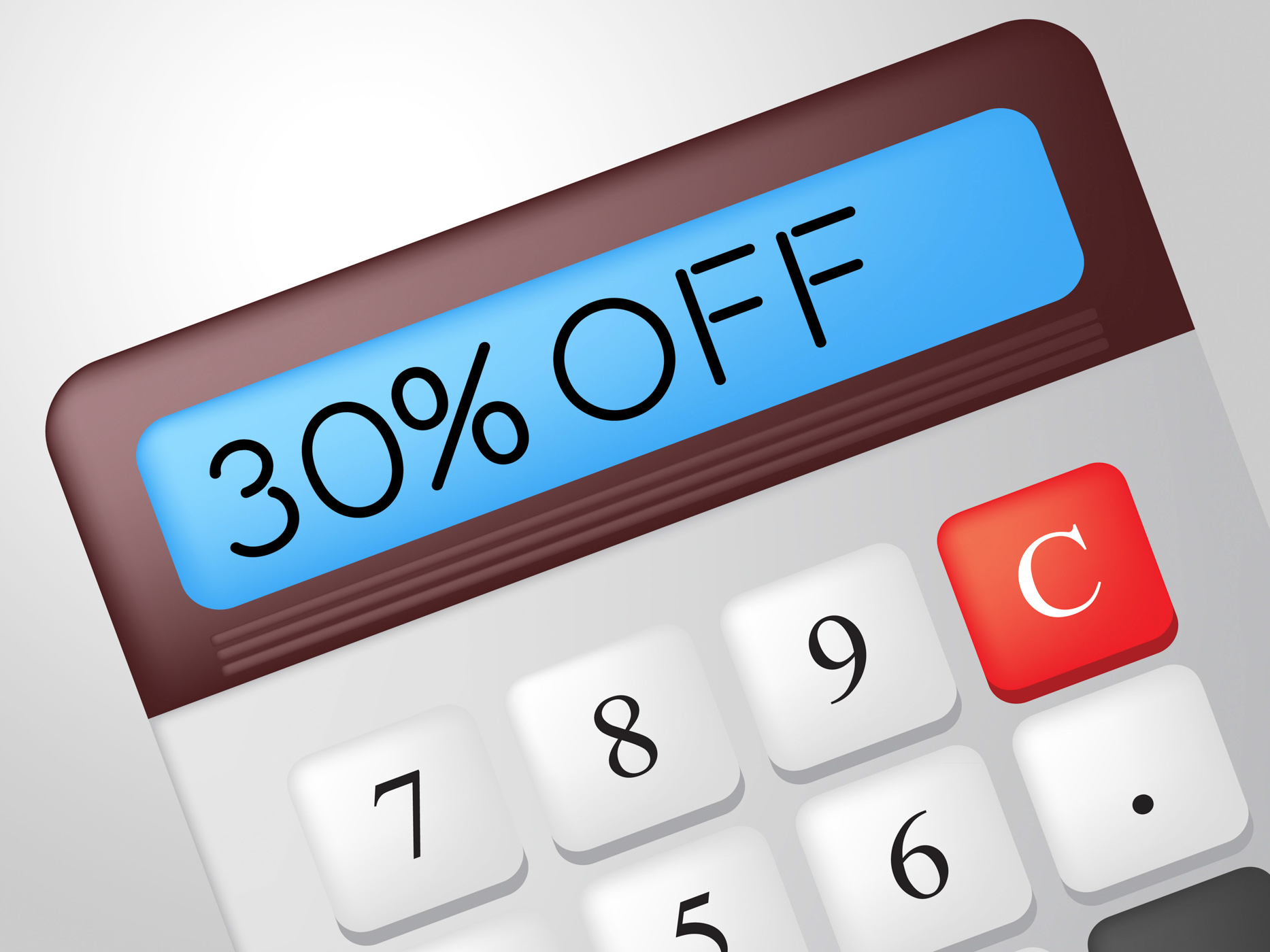 Thirty percent off means discounts clearance and calculate photo