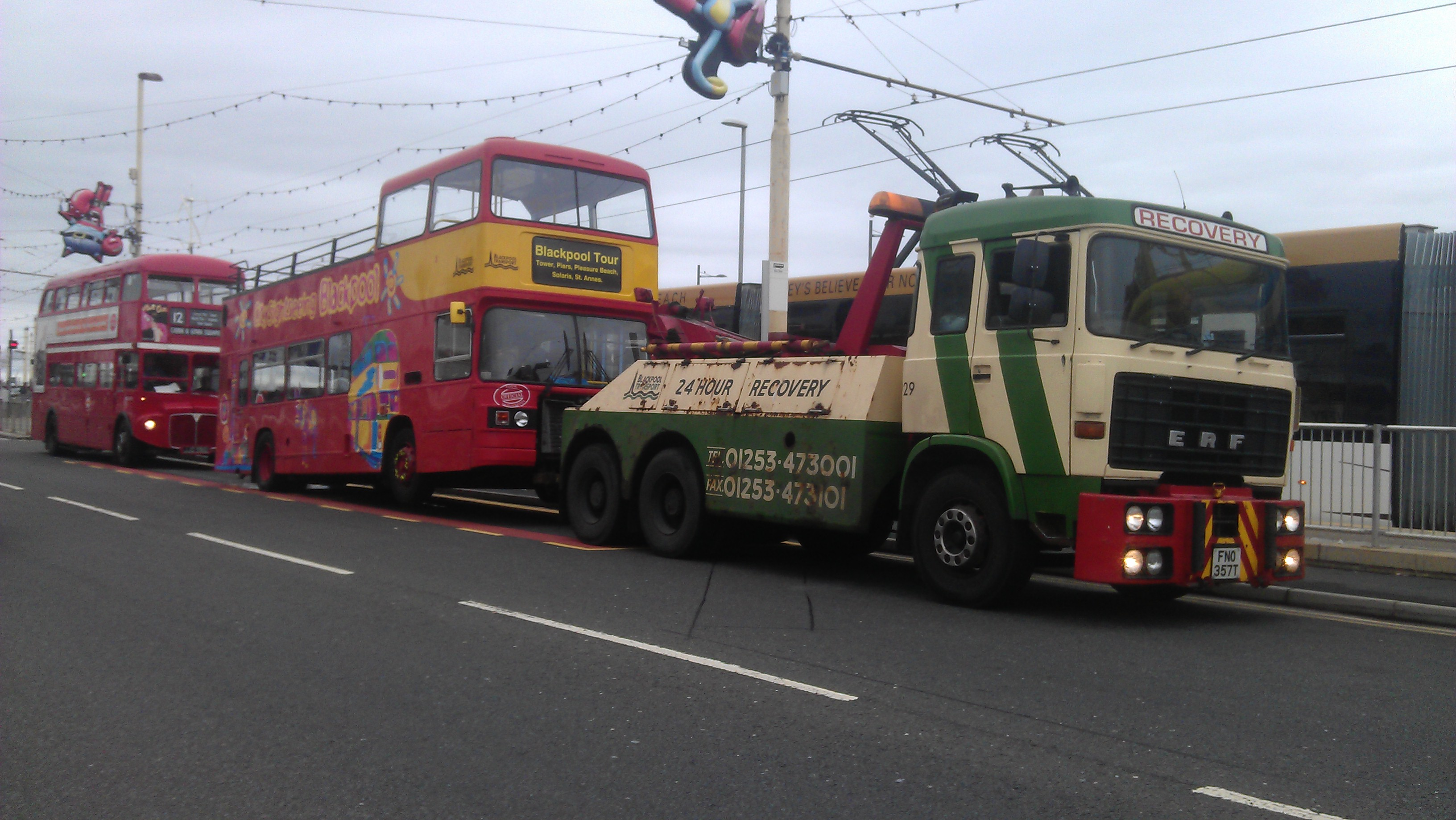 Those caught parking in bus stops shall be towed away... photo