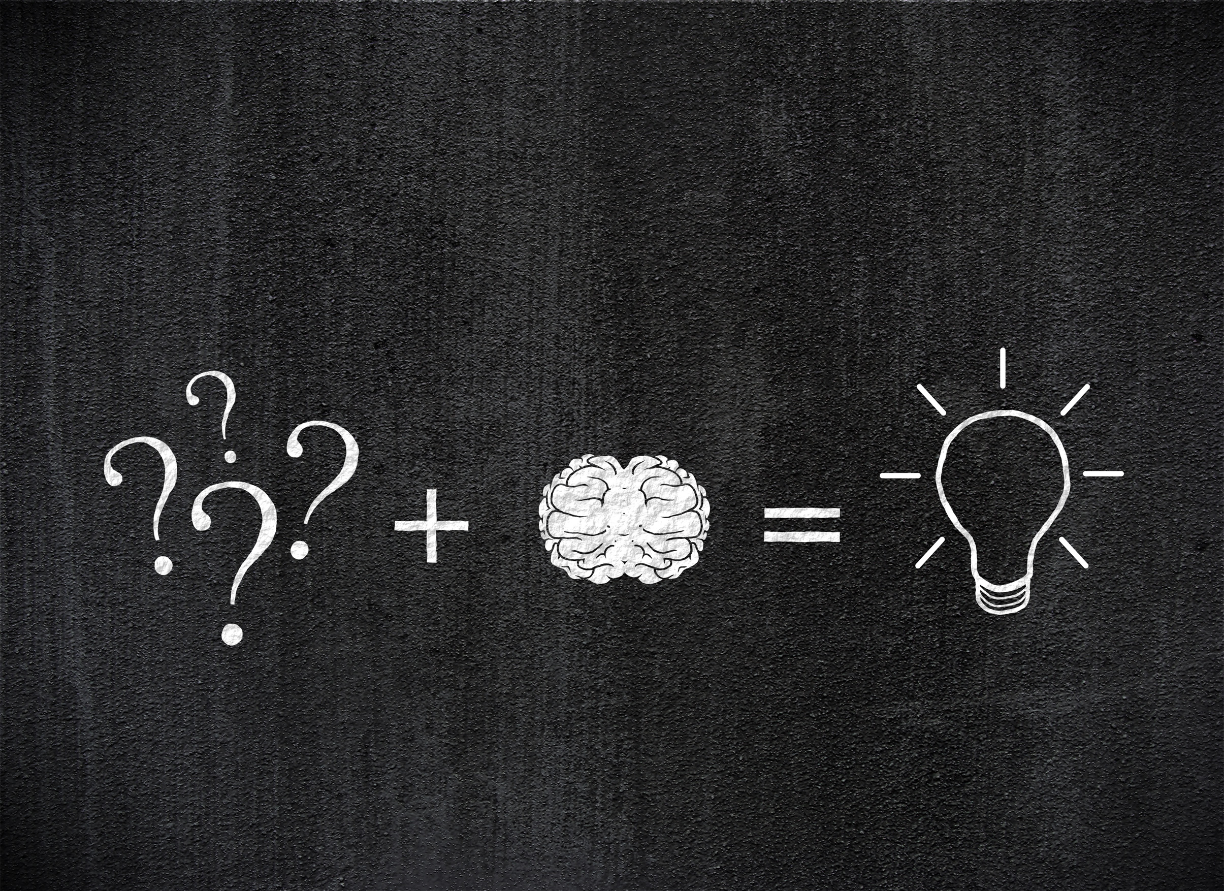 Thought process - finding a solution to a problem photo