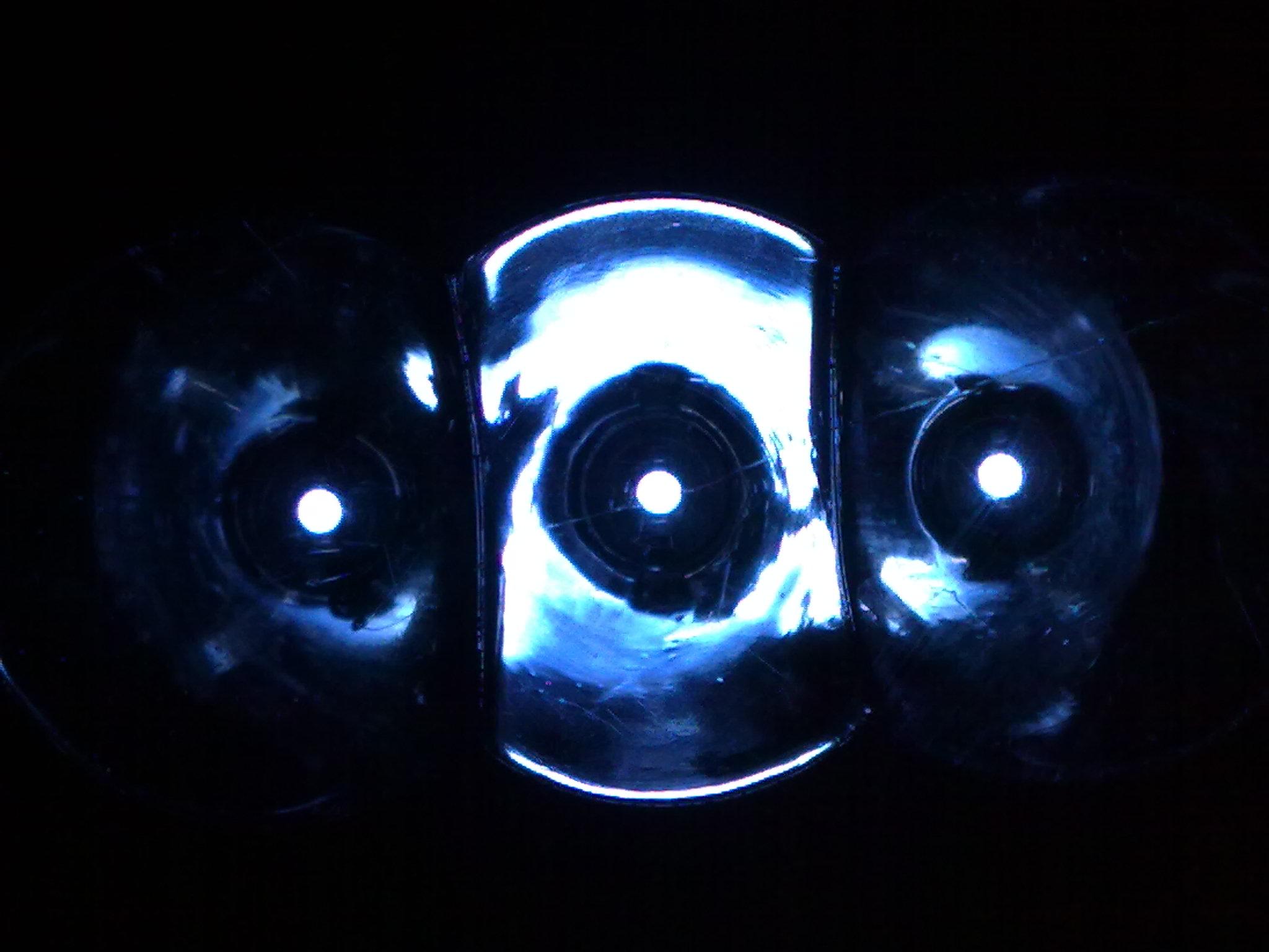 Three bubbles of light photo