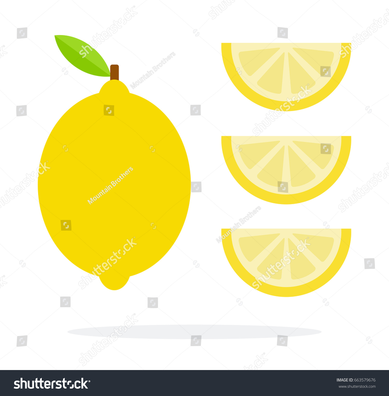 Three sliced lemons photo