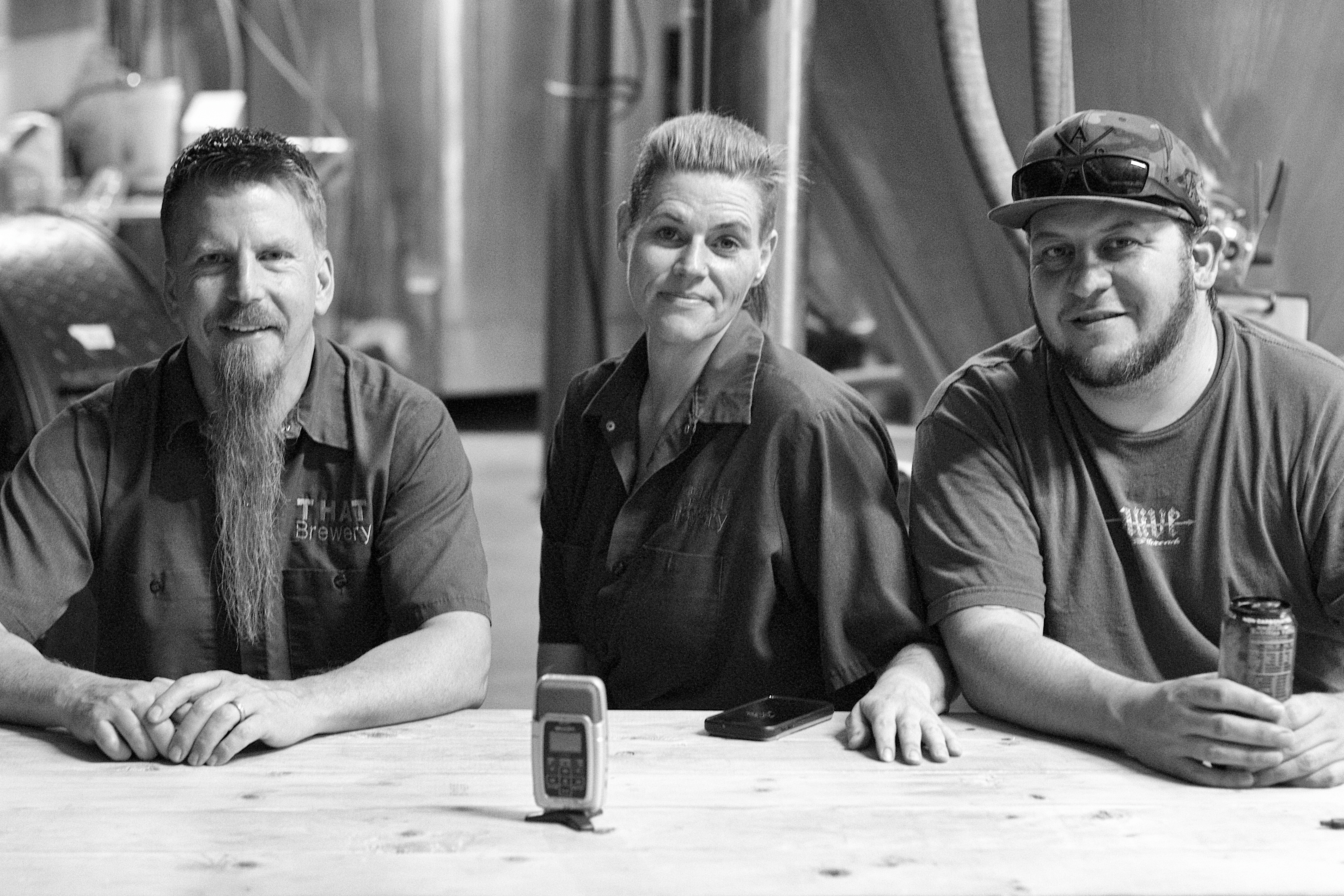 Three THAT Brewers, Groupshot, Monochrome, People, HQ Photo