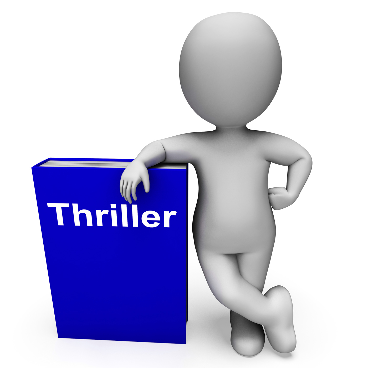 Thriller book and character shows books about action adventure mystery photo