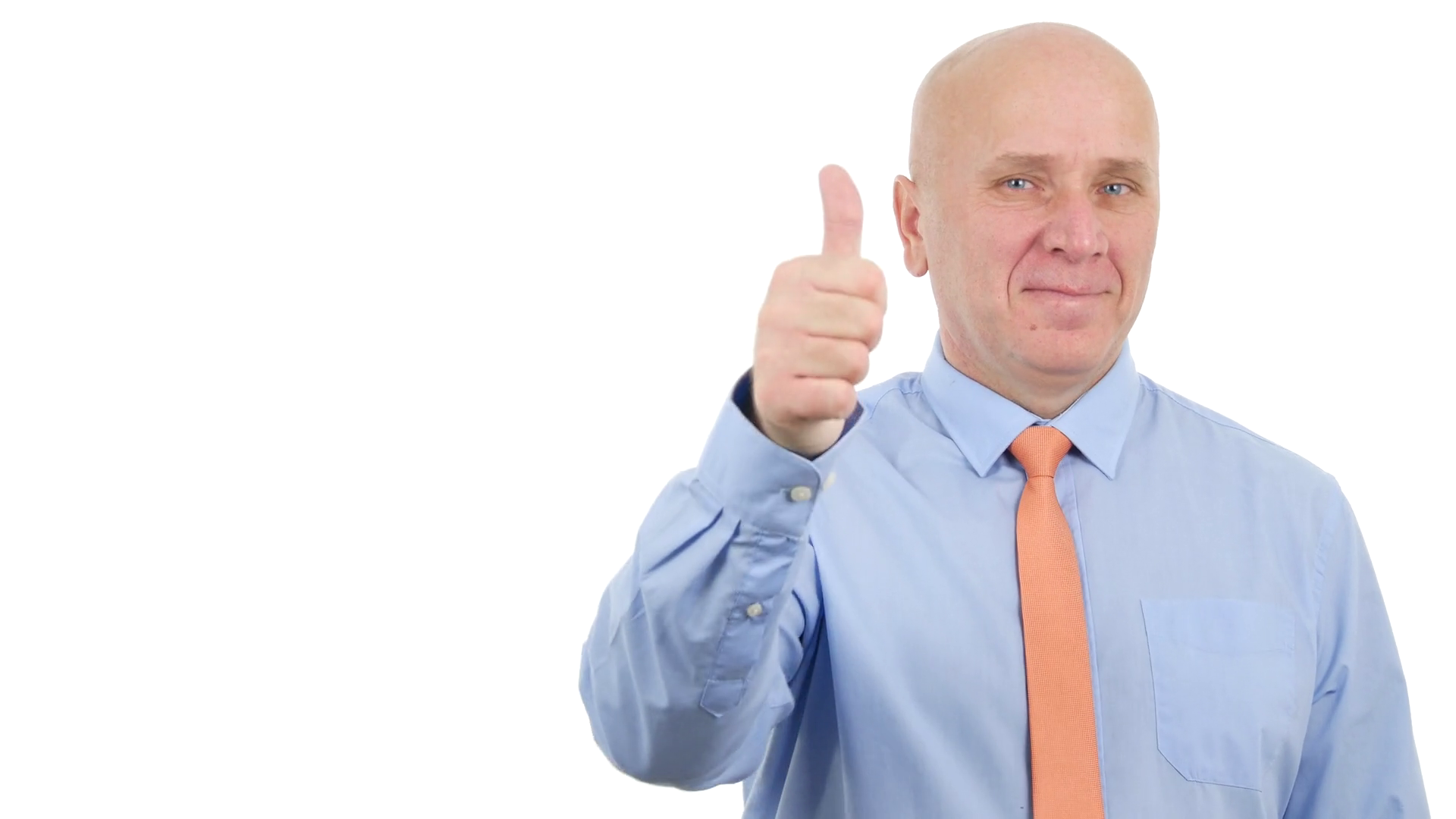 Confident Businessman Gesturing Thumbs Up Victory Sign Good Job ...