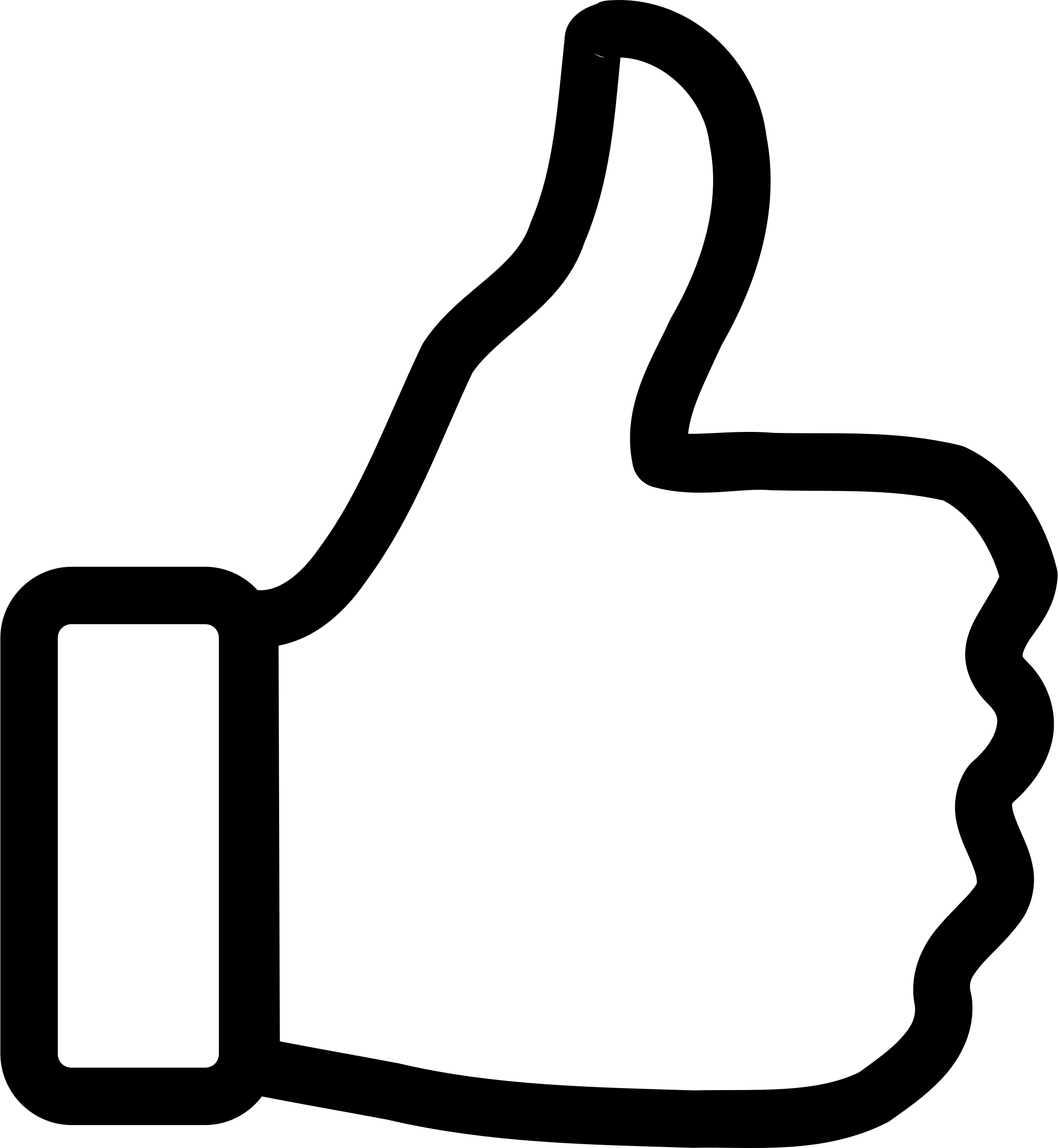 Thumbs-Up Outline Icons PNG - Free PNG and Icons Downloads