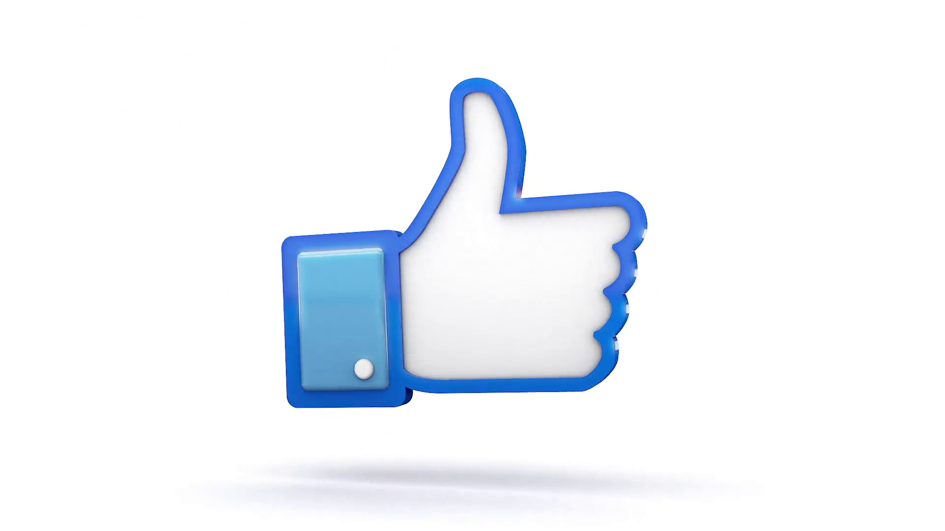 Facebook Thumbs Up Symbol Animates In Motion Background - Videoblocks