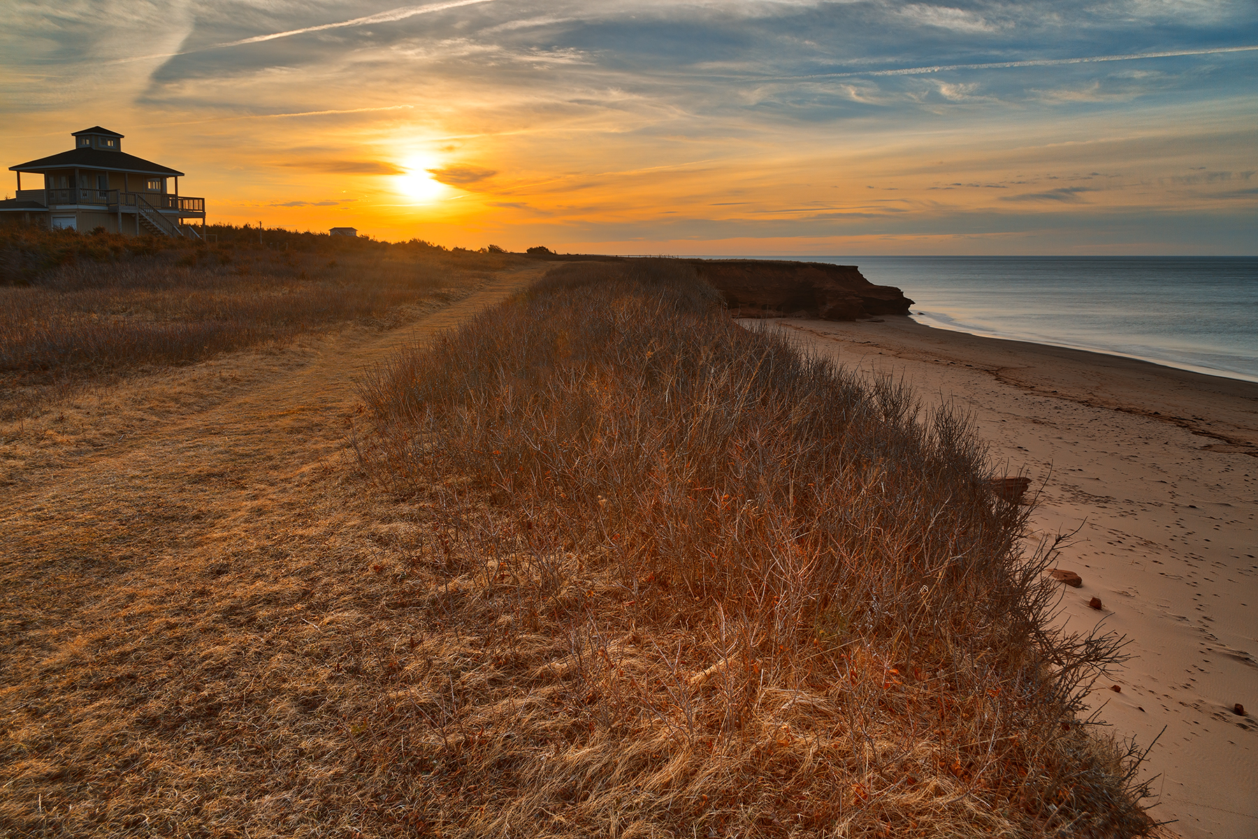 Thunder Cove Sunset - HDR, , Path, Scene, Sandy, HQ Photo
