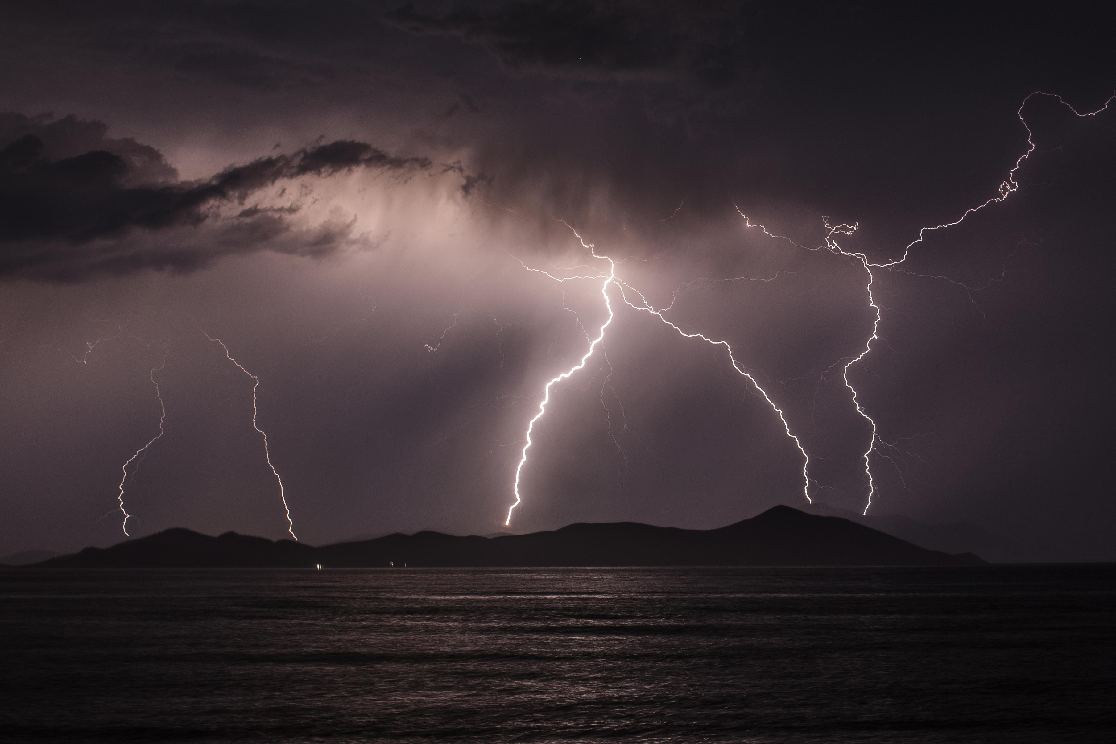 Thunder storm photo