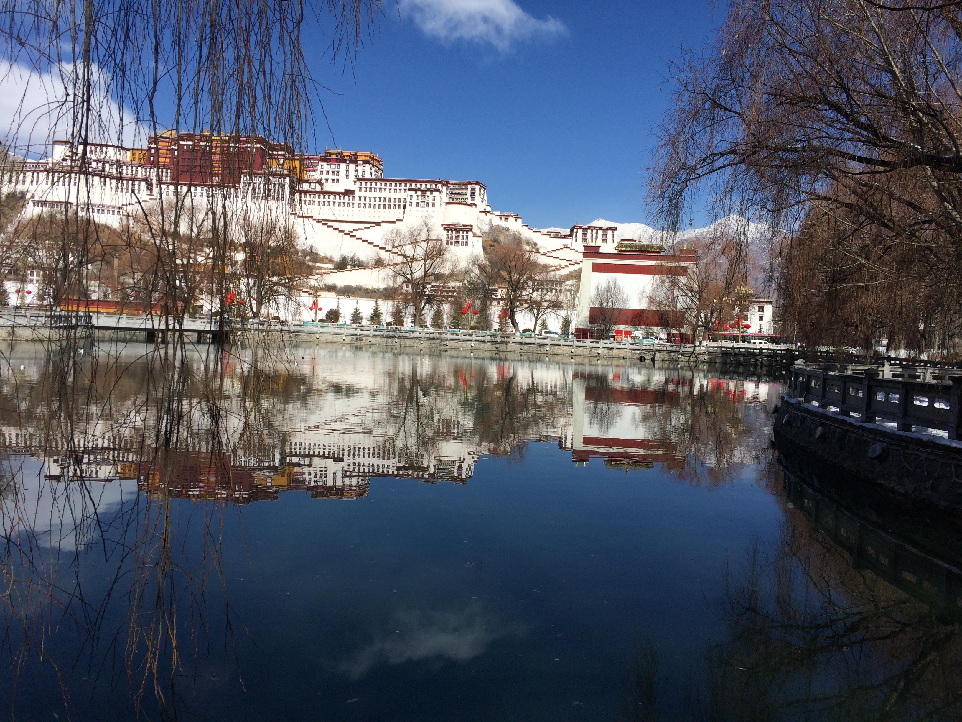 Tibet-China 中國自治區~西藏 Potala Palace - Lhasa布達拉宮~拉薩, Outdoor, Water, Waterfront, HQ Photo