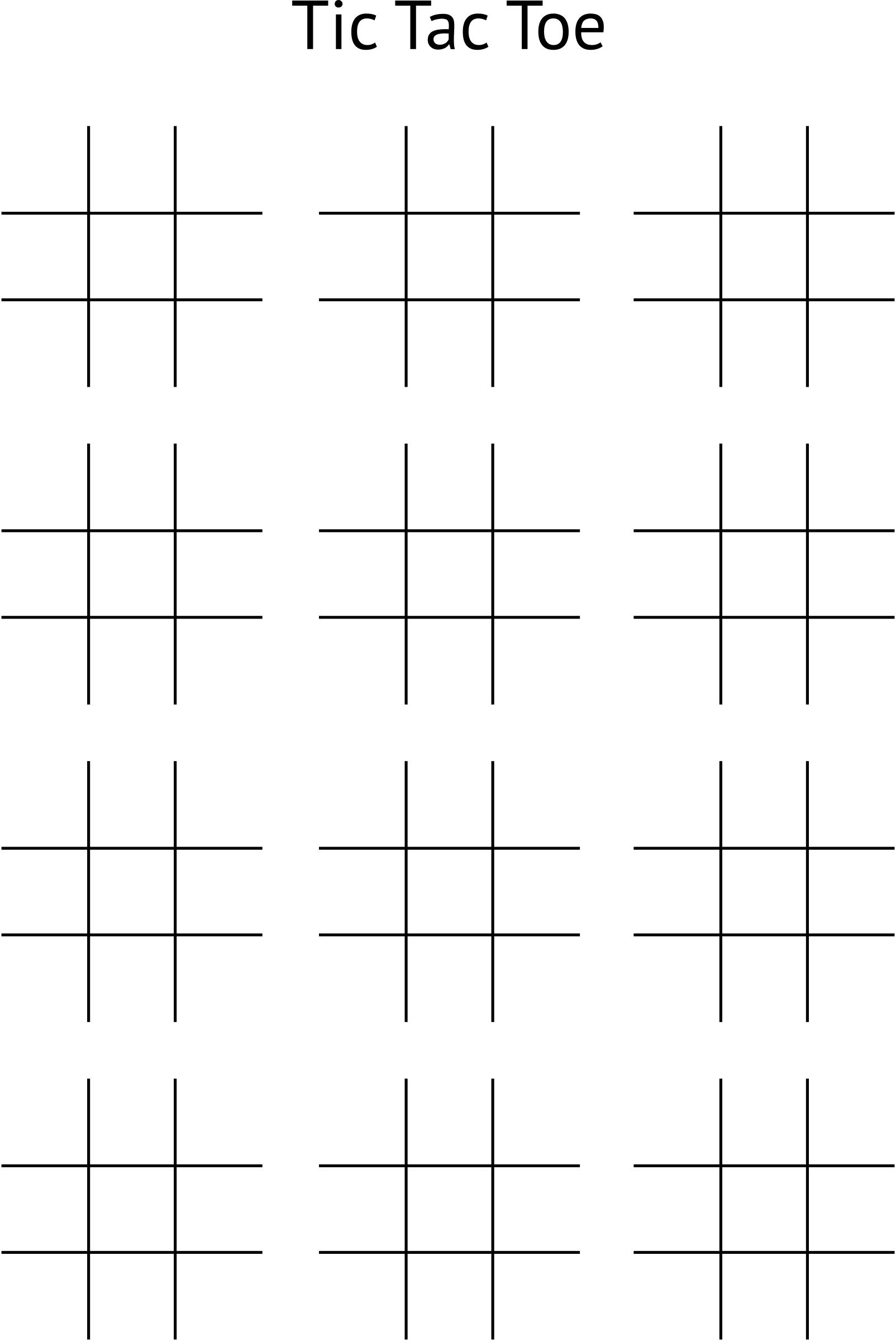 Clipart - Tic Tac Toe Board