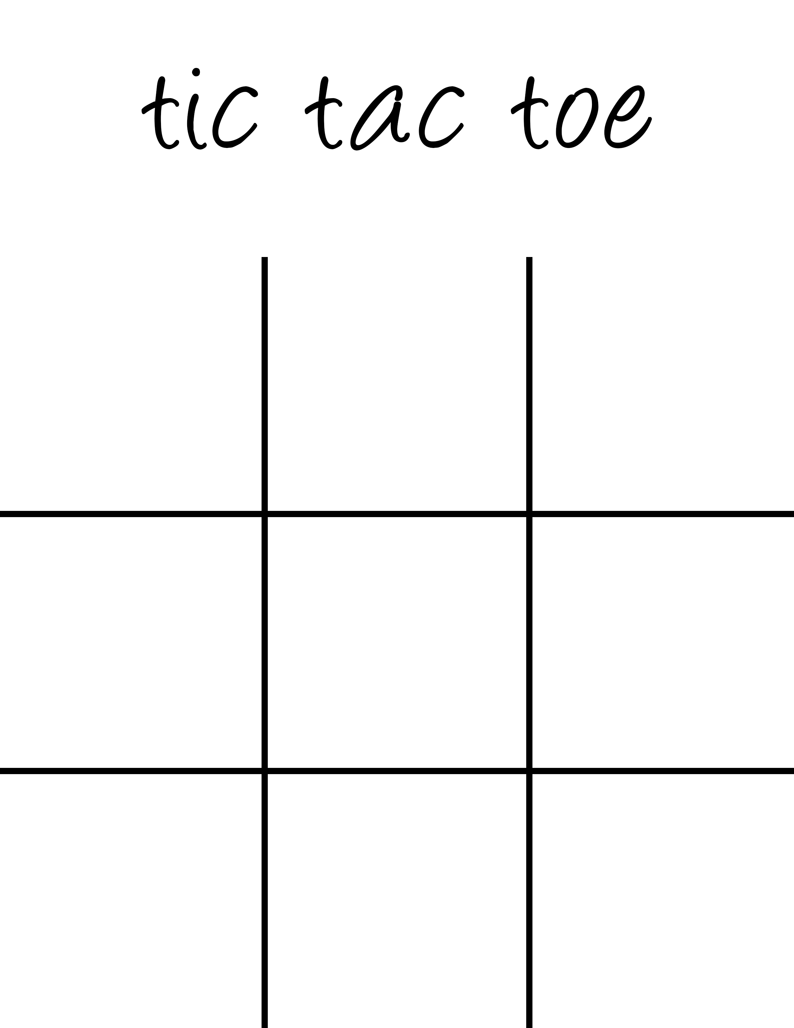 Tic Tac Toe Board Printable - 5 Minutes for Mom