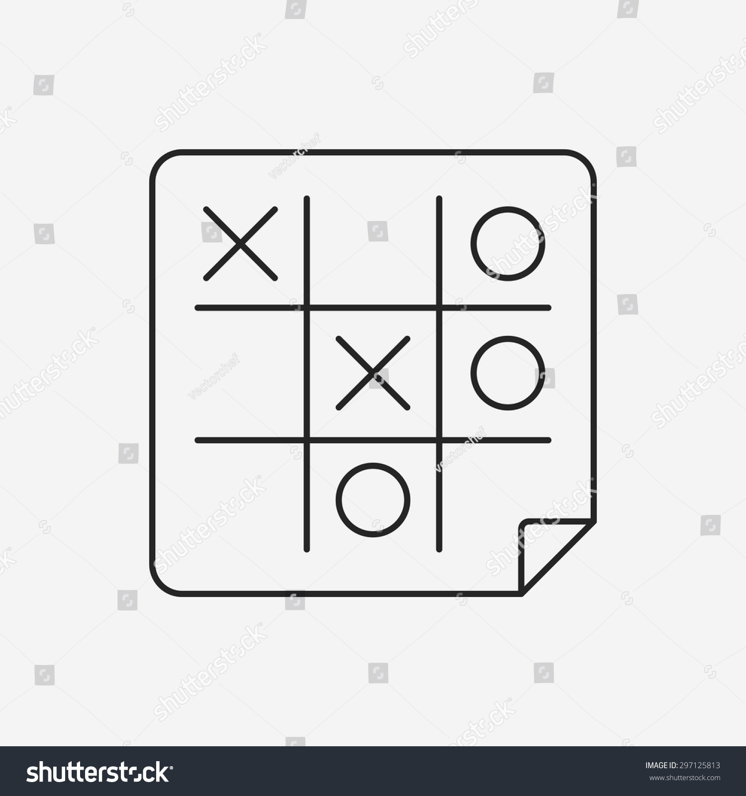 Tic Tac Toe Line Icon Stock Vector 297125813 - Shutterstock