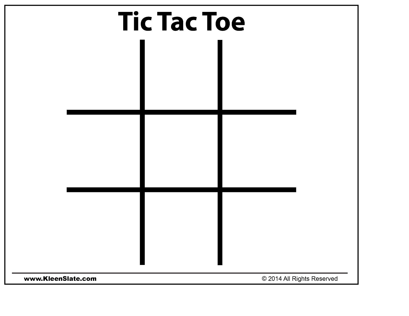 Tic Tac Toe Template Contegri Com And 3d Board Coloring Page In ...