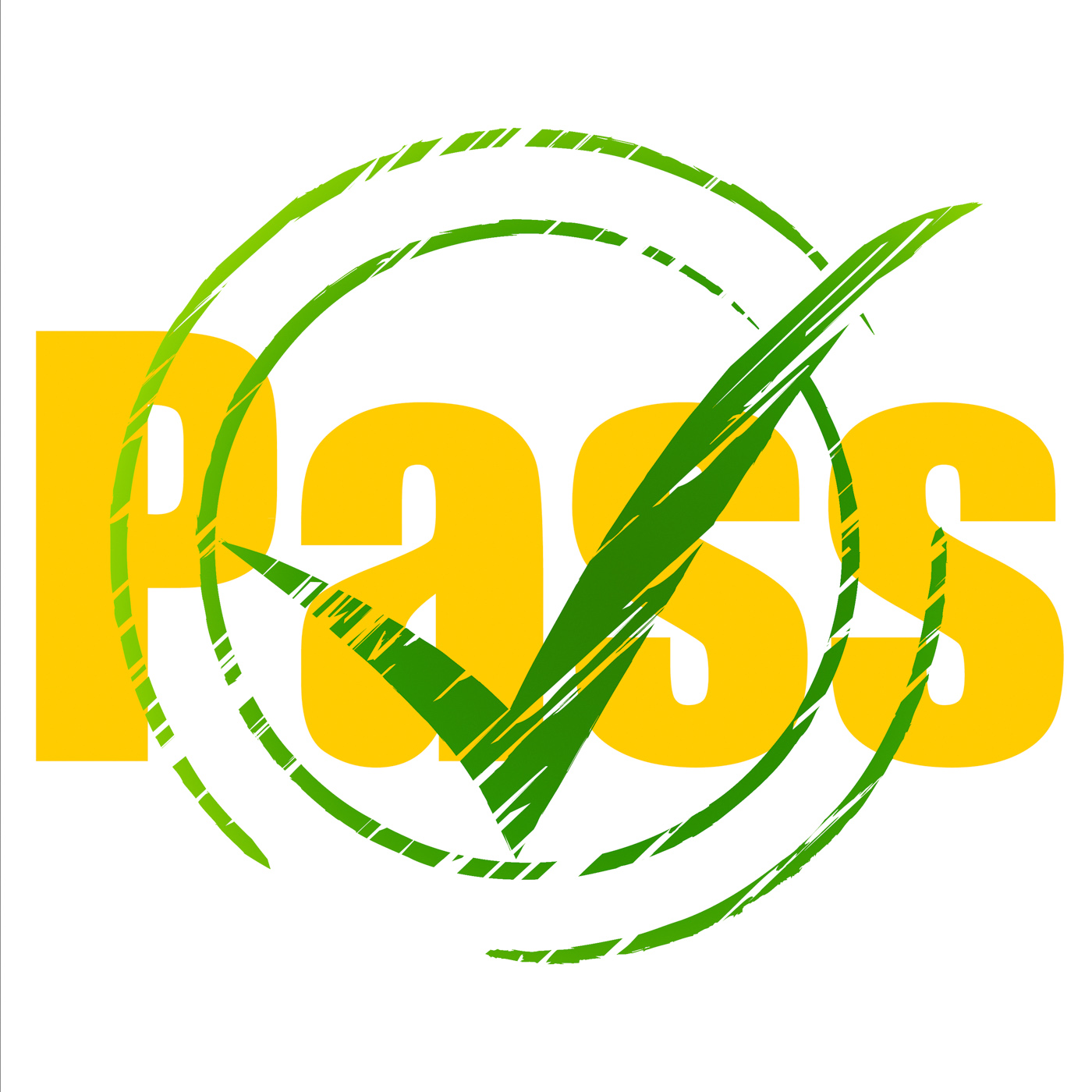 Tick pass shows check confirm and approval photo