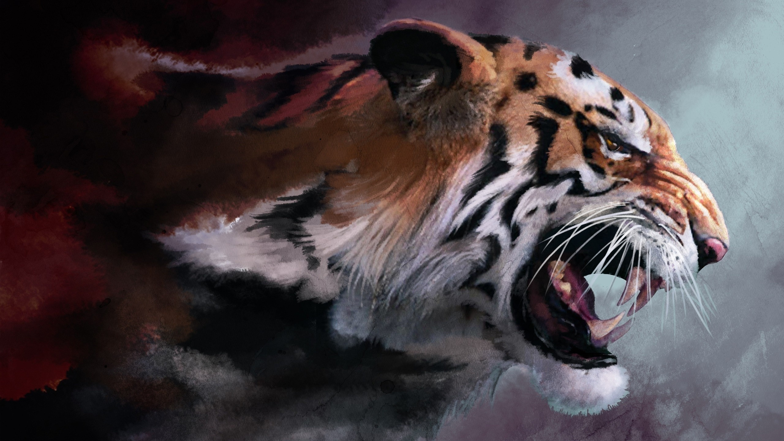 tiger, Artwork Wallpapers HD / Desktop and Mobile Backgrounds