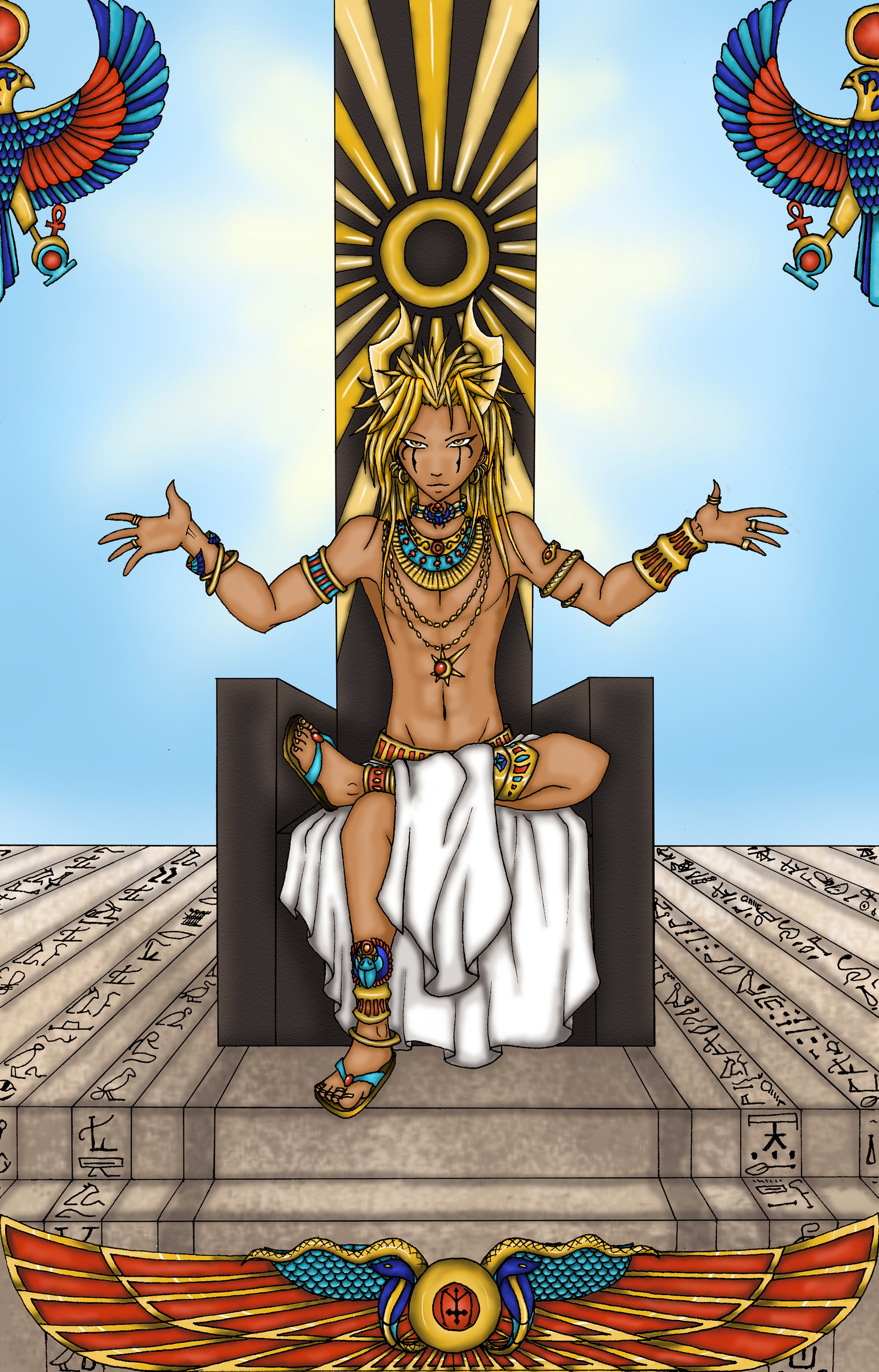 Egyptian god of the Sun by KeiraTheTiger on DeviantArt
