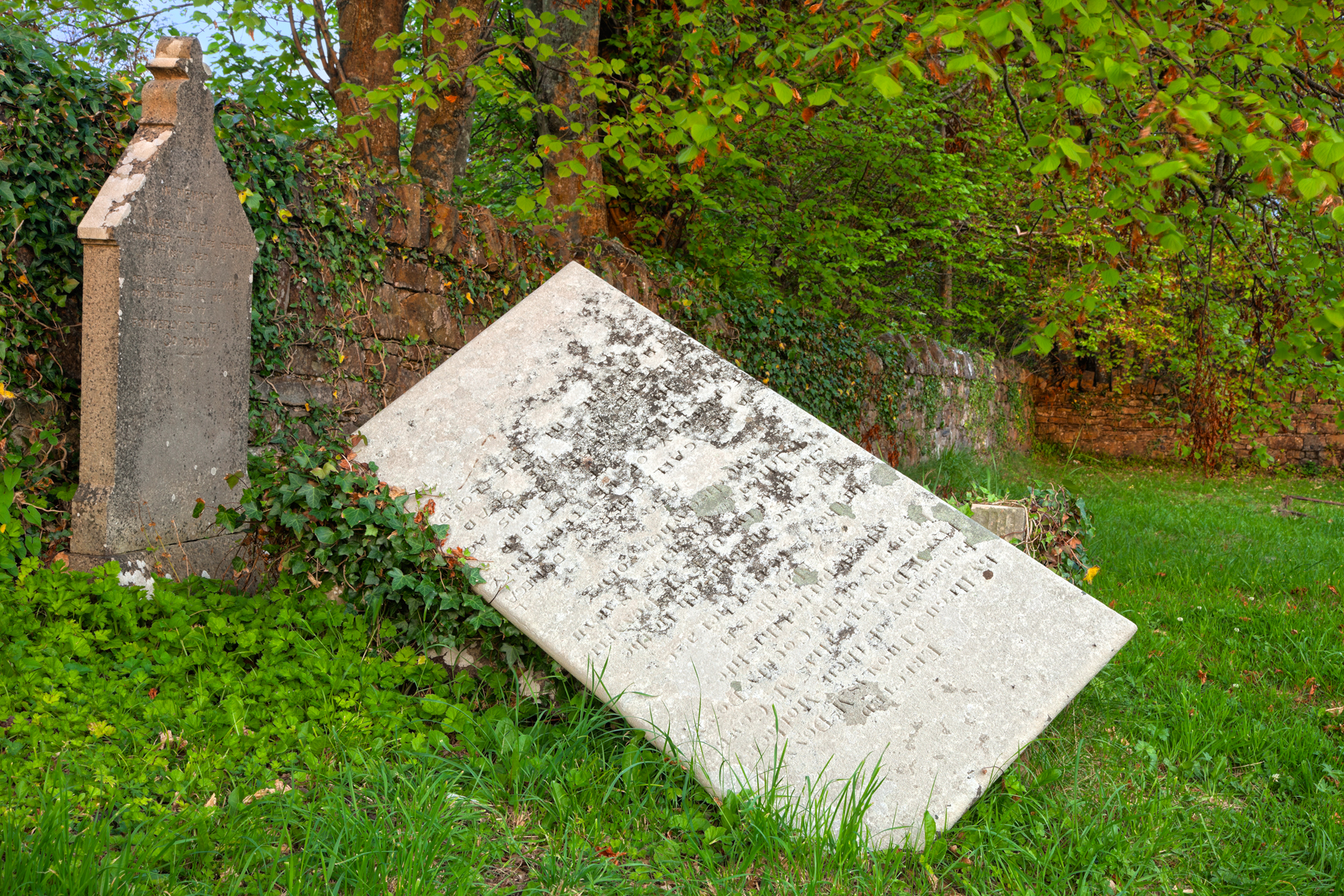 Tilted Tombstone - HDR, Ancient, Photograph, Religious, Religion, HQ Photo