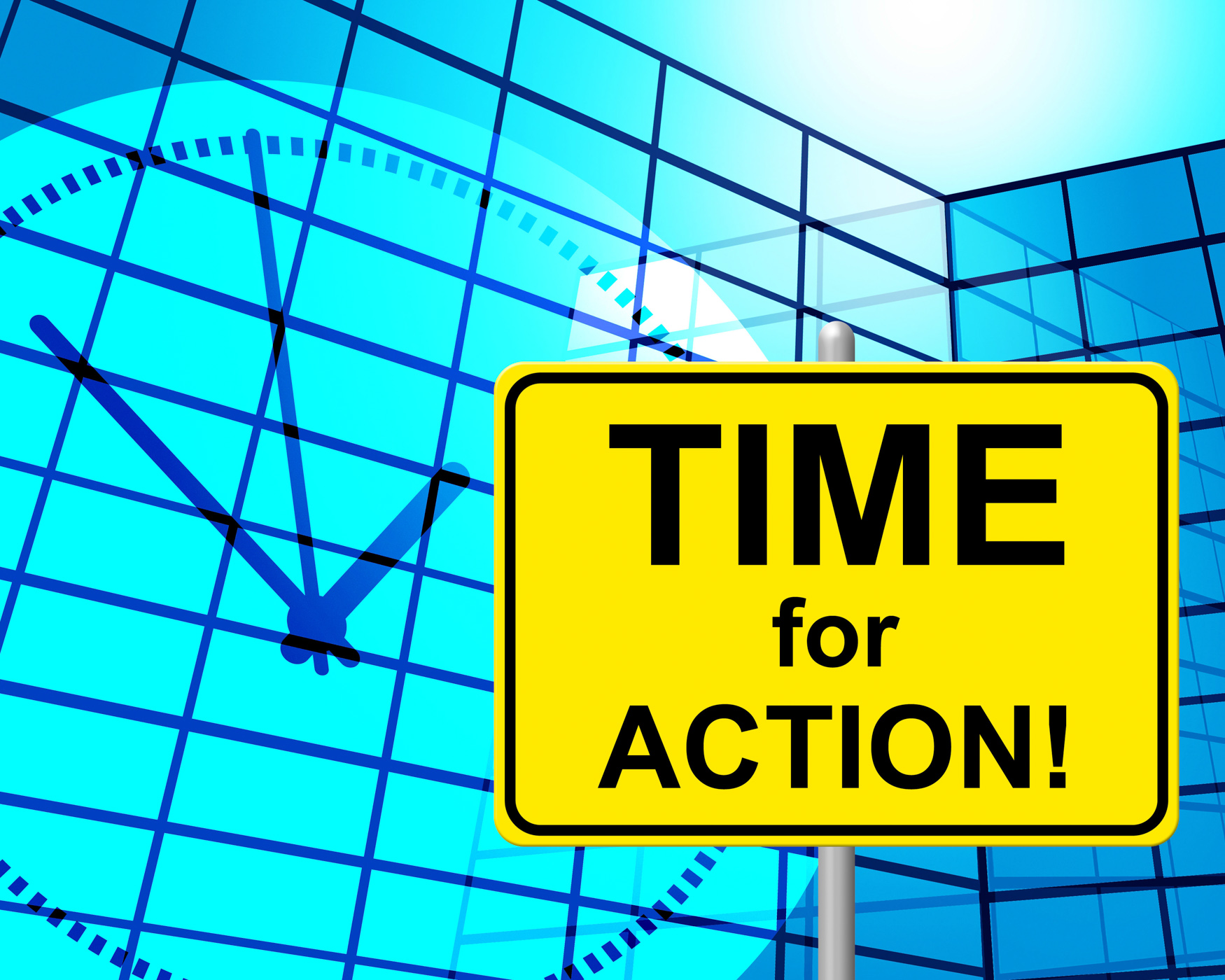 Time for action indicates do it and active photo