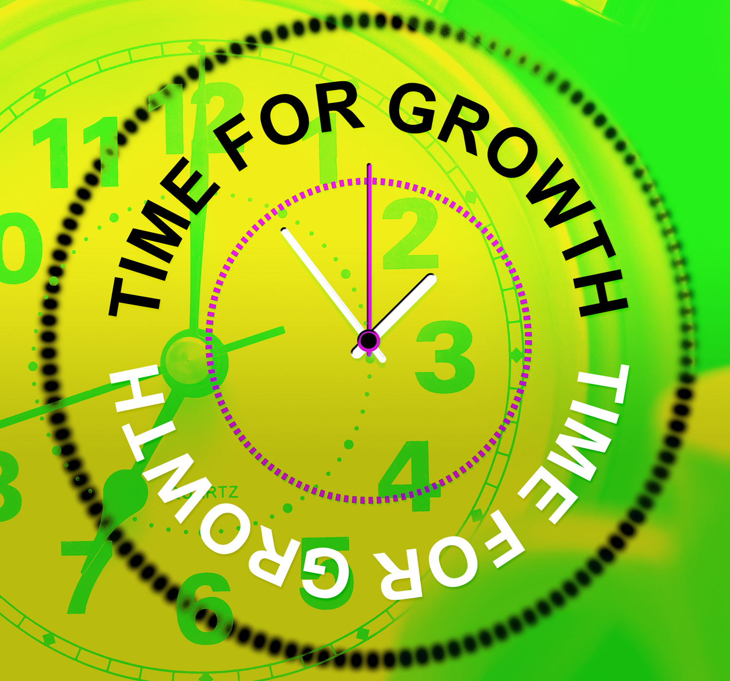 Time for growth represents development improve and rise photo