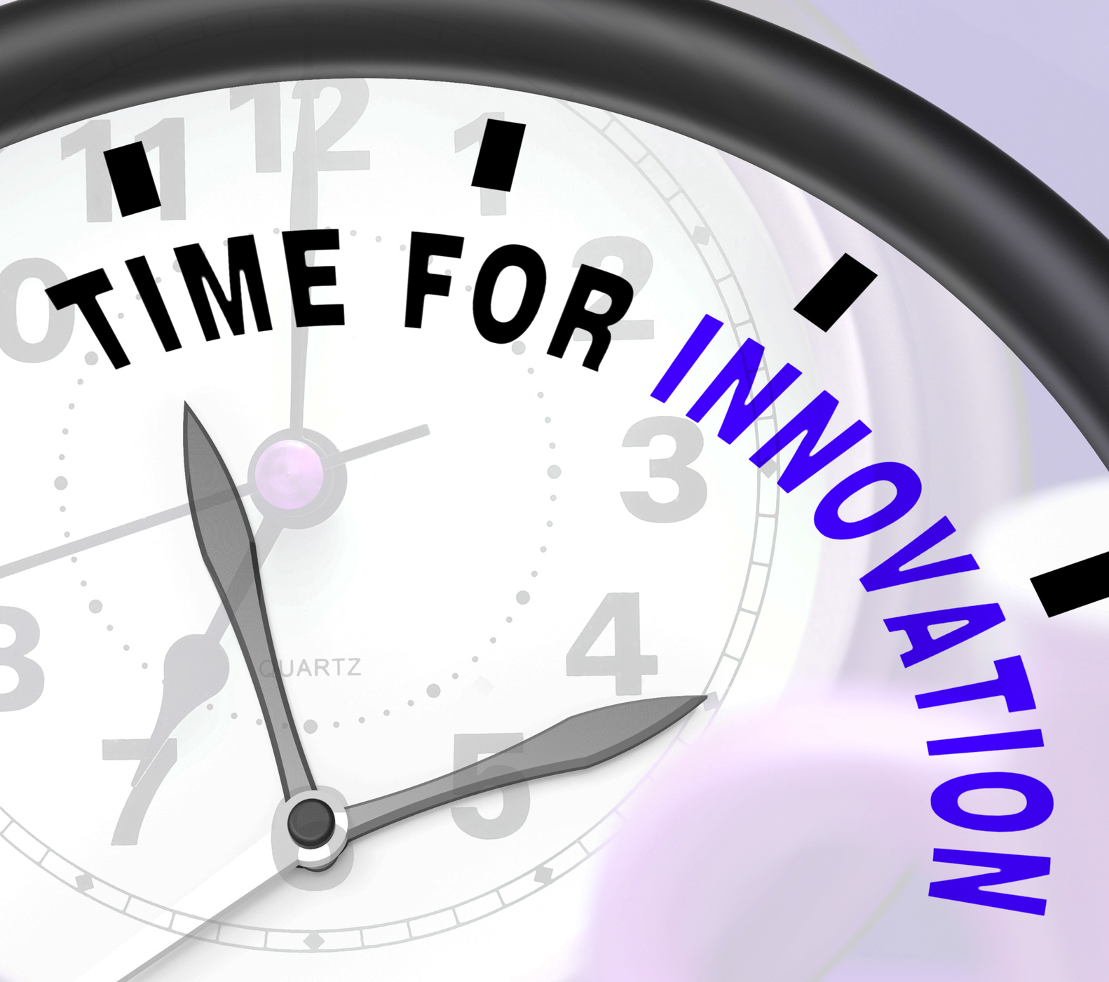 Time for innovation shows creative development and ingenuity photo