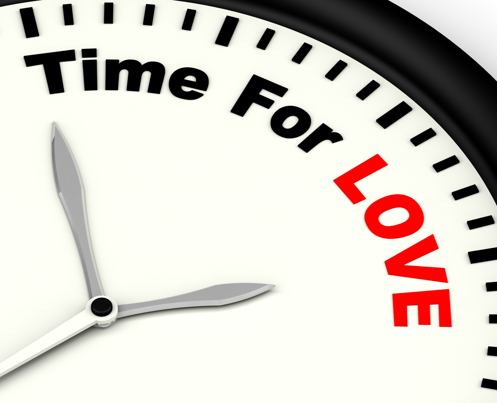 Time for love message showing romance and feelings photo