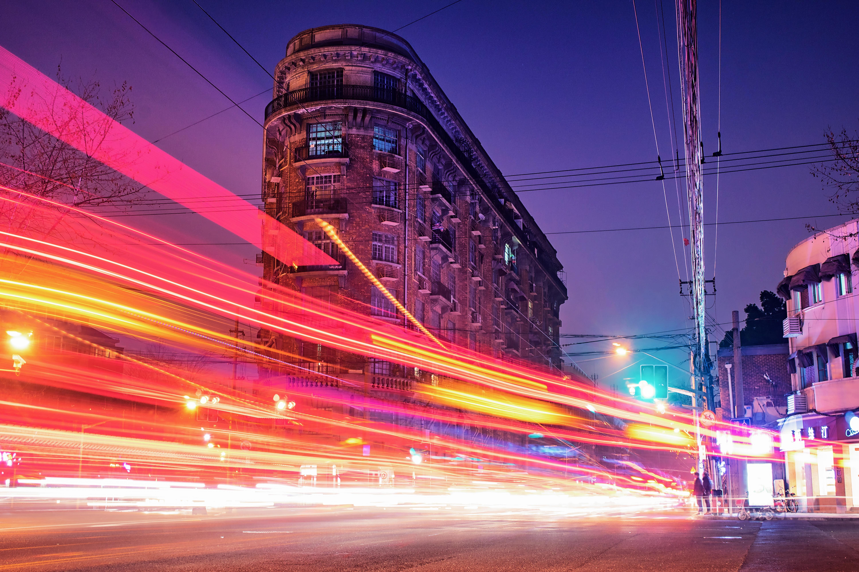 Time-lapse Photography of Brown Concrete Building, Blur, Motion, Urban, Travel, HQ Photo