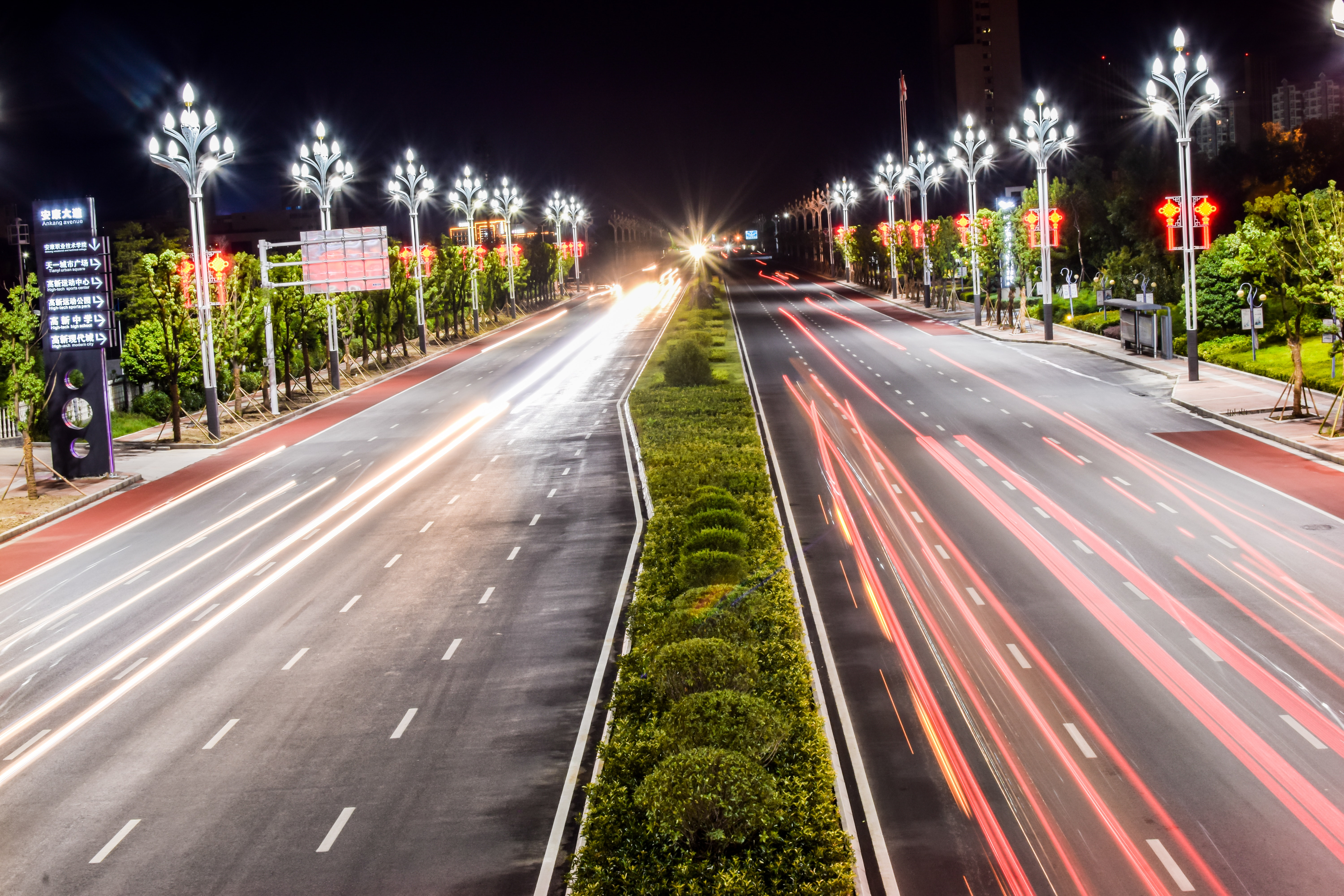 Time-lapse Photography of Cars on Road, Action, Speed, Outdoors, Pavement, HQ Photo