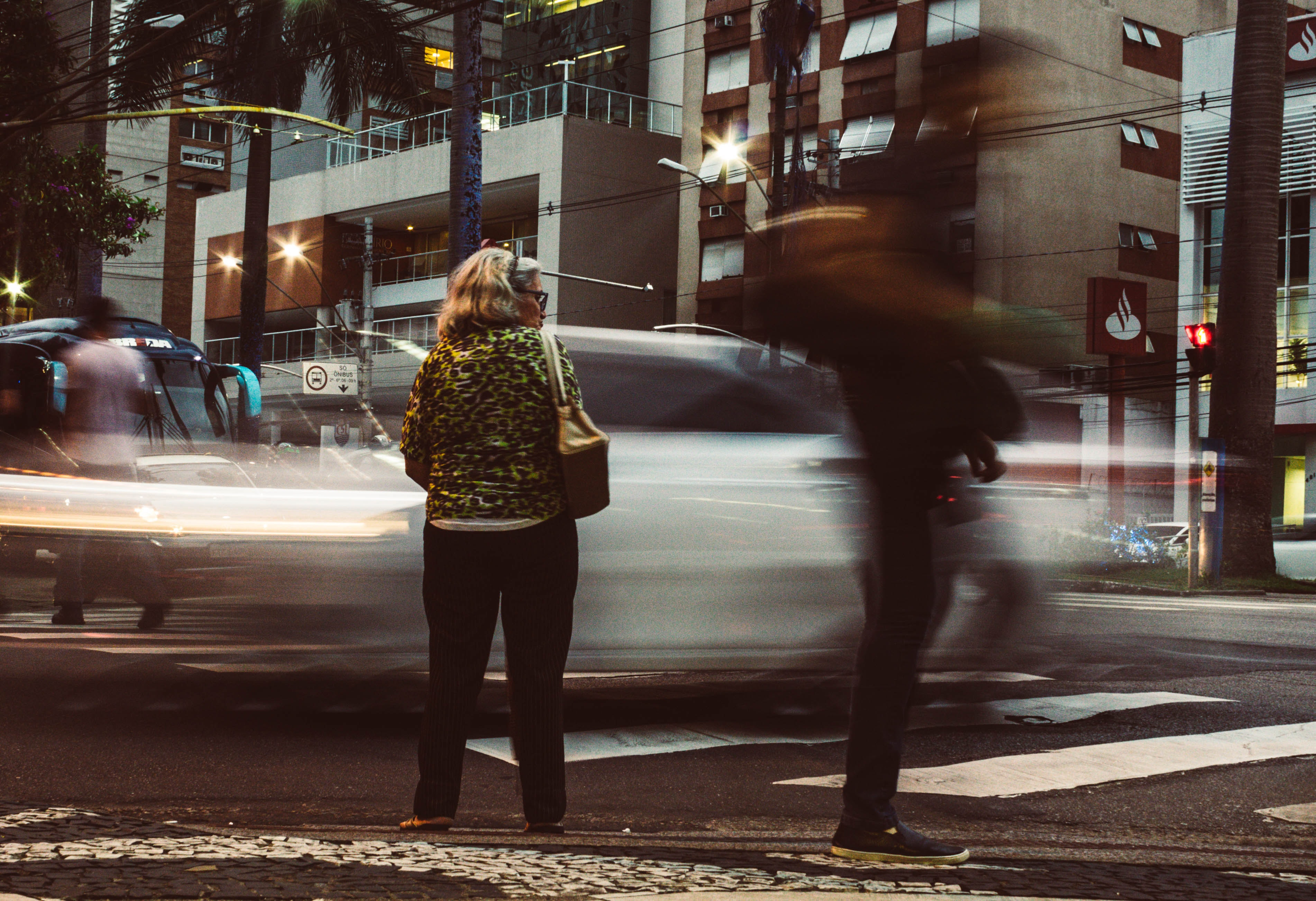 Time-lapse Photography Standing on Road, Blur, People, Urban scene, Urban area, HQ Photo