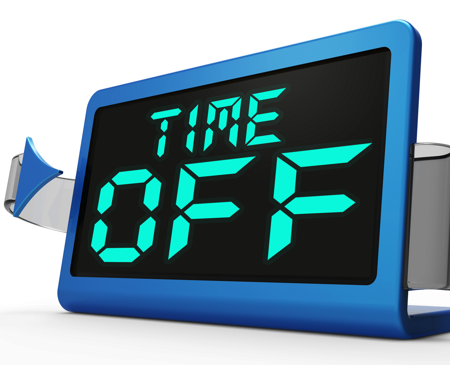 Time Off Clock Shows Holiday From Work Or Study, Clock, Freetime, Holidays, Leave, HQ Photo