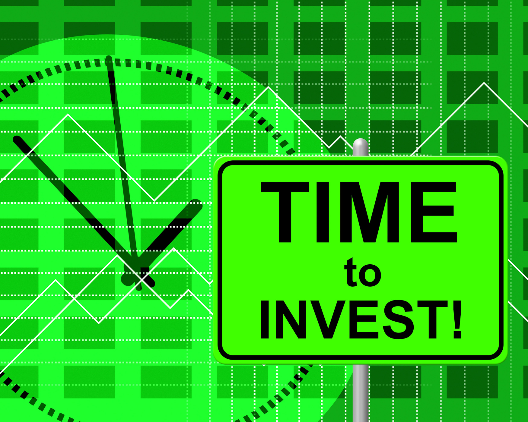 Time to invest indicates return on investment and invested photo