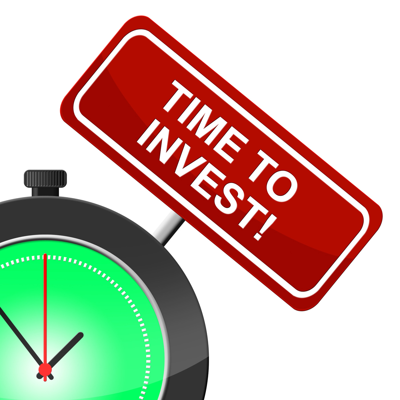 Time to invest indicates savings return and shares photo