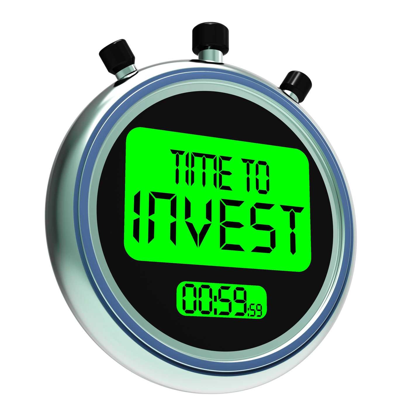 Time to invest message showing growing wealth and savings photo