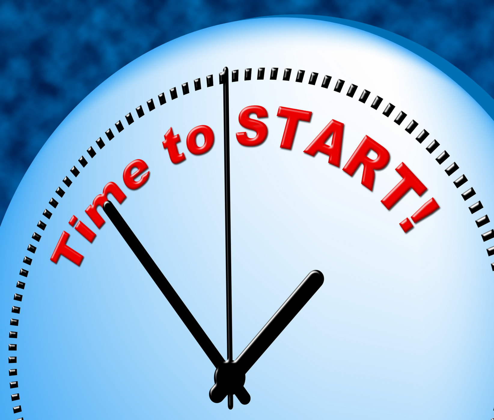 Time to start indicates act now and beginning photo