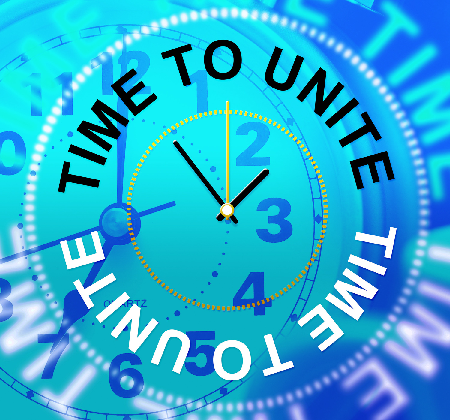 Time To Unite Indicates Team Work And Collaborate, Collaborate, Cooperation, Group, Partner, HQ Photo