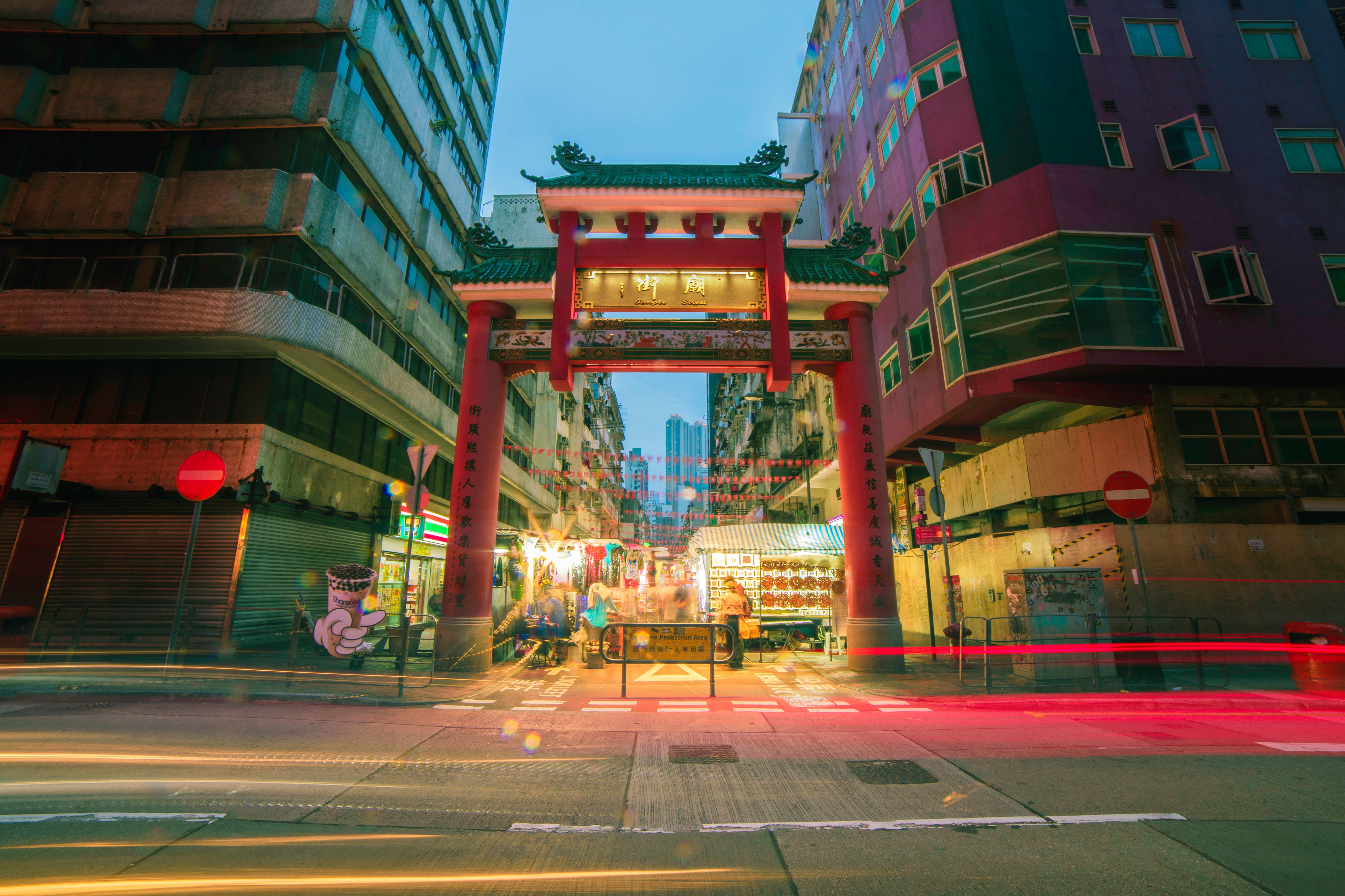 Timelapse Photo of China Town, Architecture, Road, Market, Modern, HQ Photo