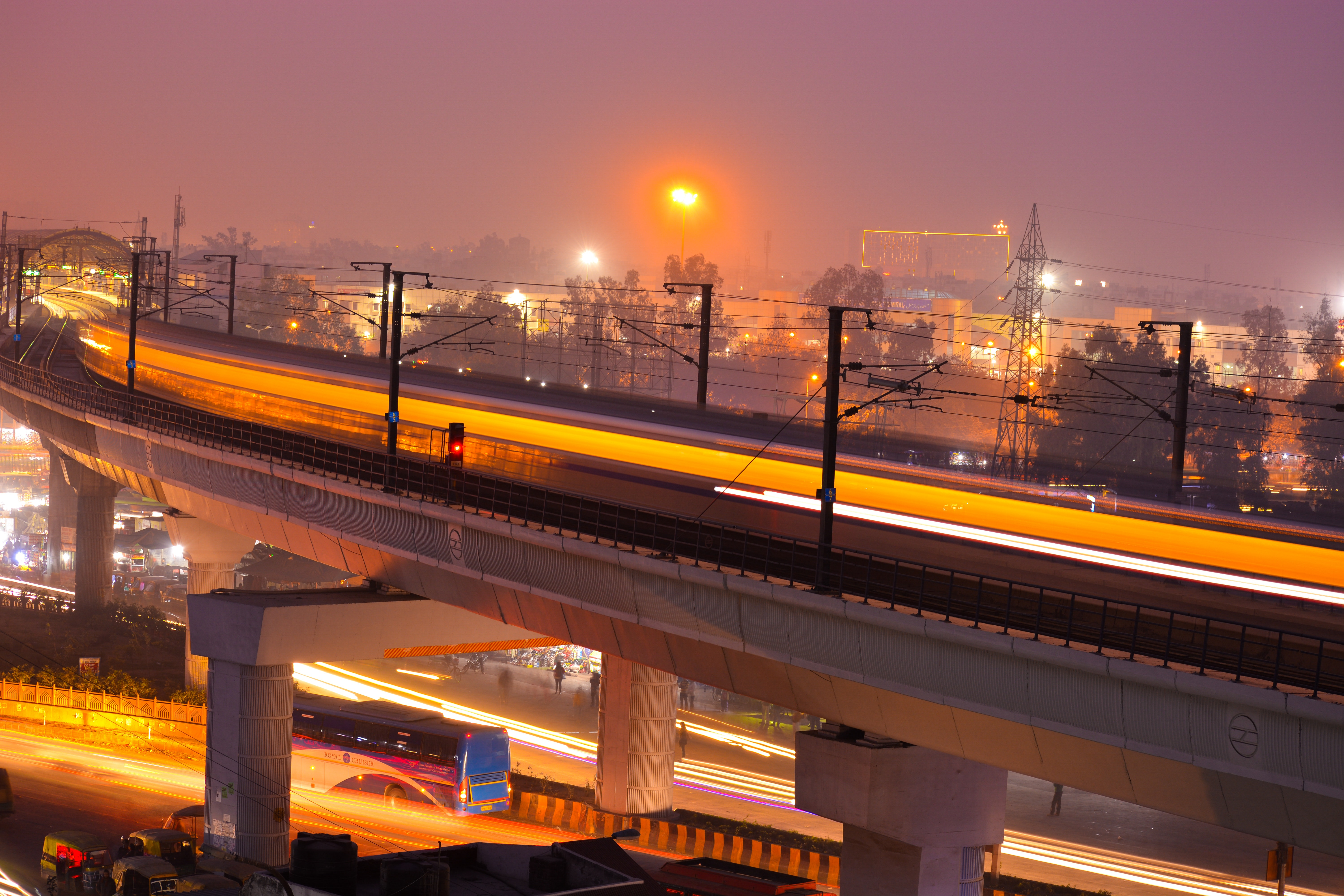 Timelapse Photo of Train, Bridge, Metro, Travel, Transportation system, HQ Photo