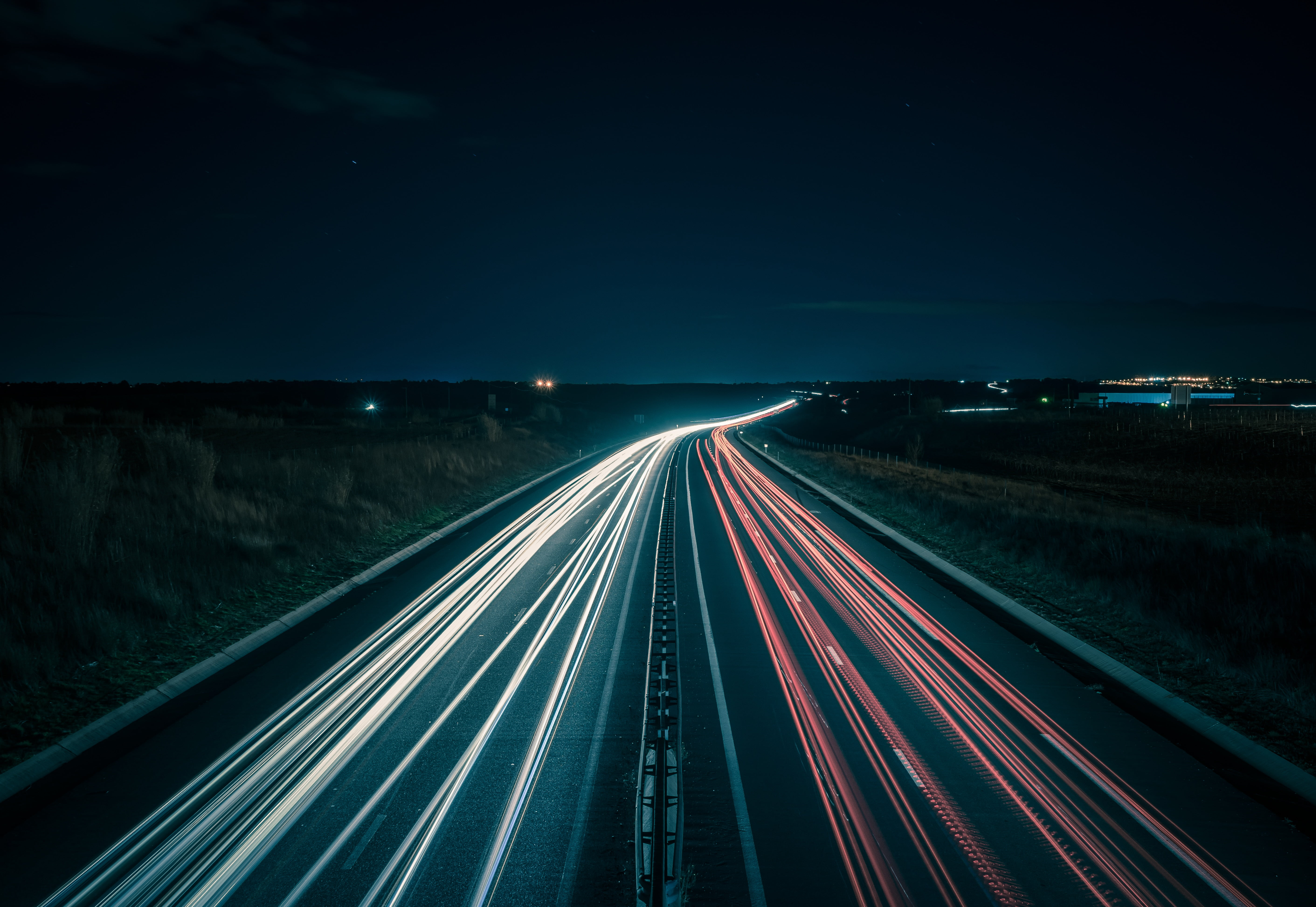 Timelapse photography of road during night time HD wallpaper ...