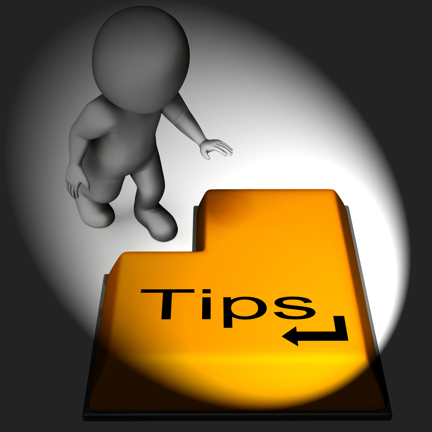 Tips keyboard means online guidance and suggestions photo