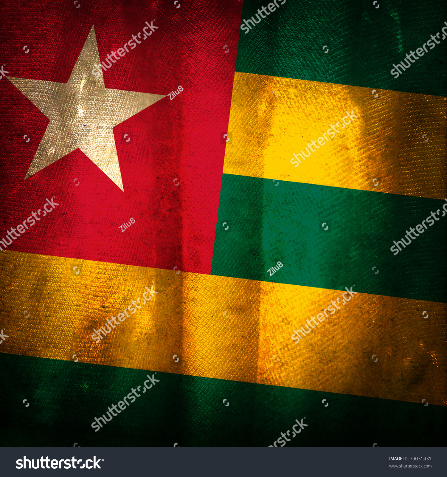 Old Grunge Flag Togo Stock Photo 79031431 - Shutterstock
