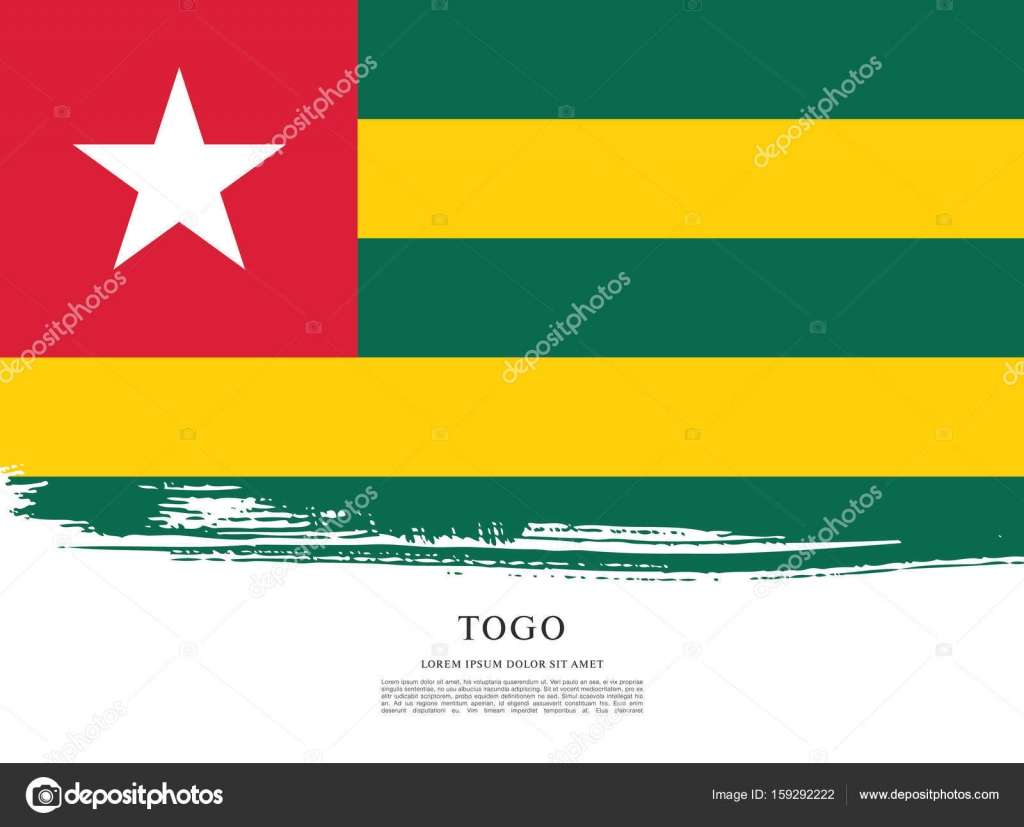 Flag of Togo background — Stock Vector © Igor_Vkv #159292222