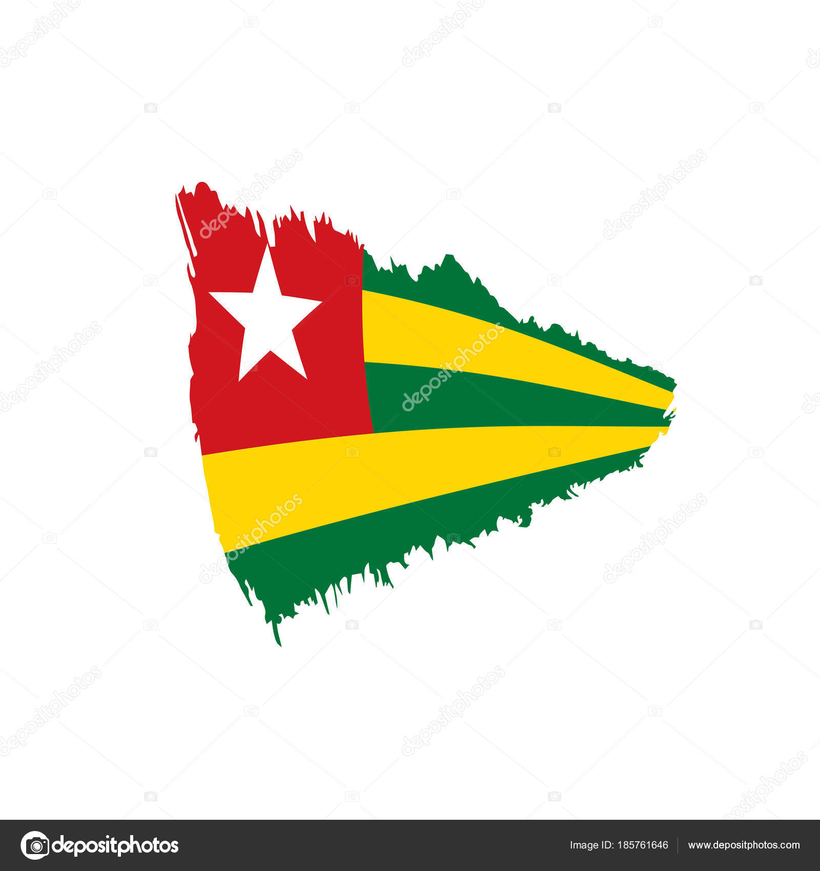 togo flag, vector illustration — Stock Vector © artbutenkov #185761646