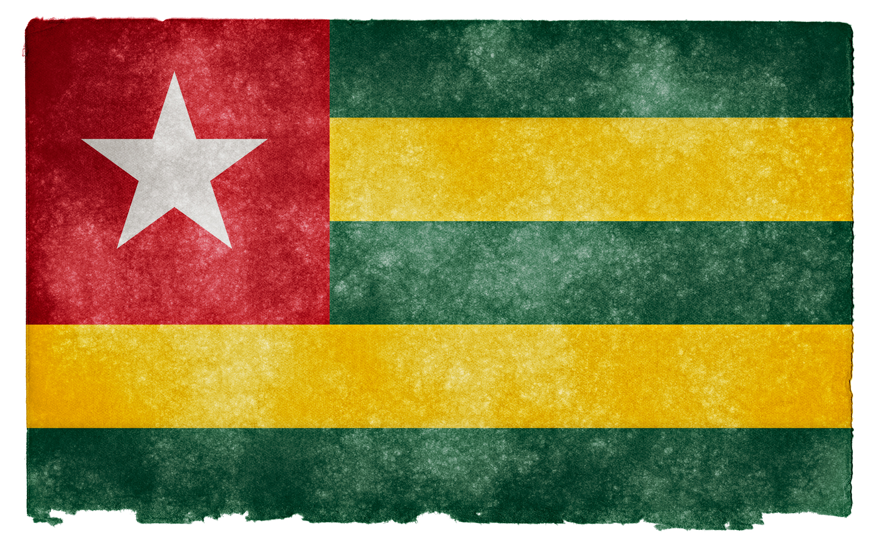 Togo Grunge Flag, Africa, Somadjinn, Paper, Parchment, HQ Photo
