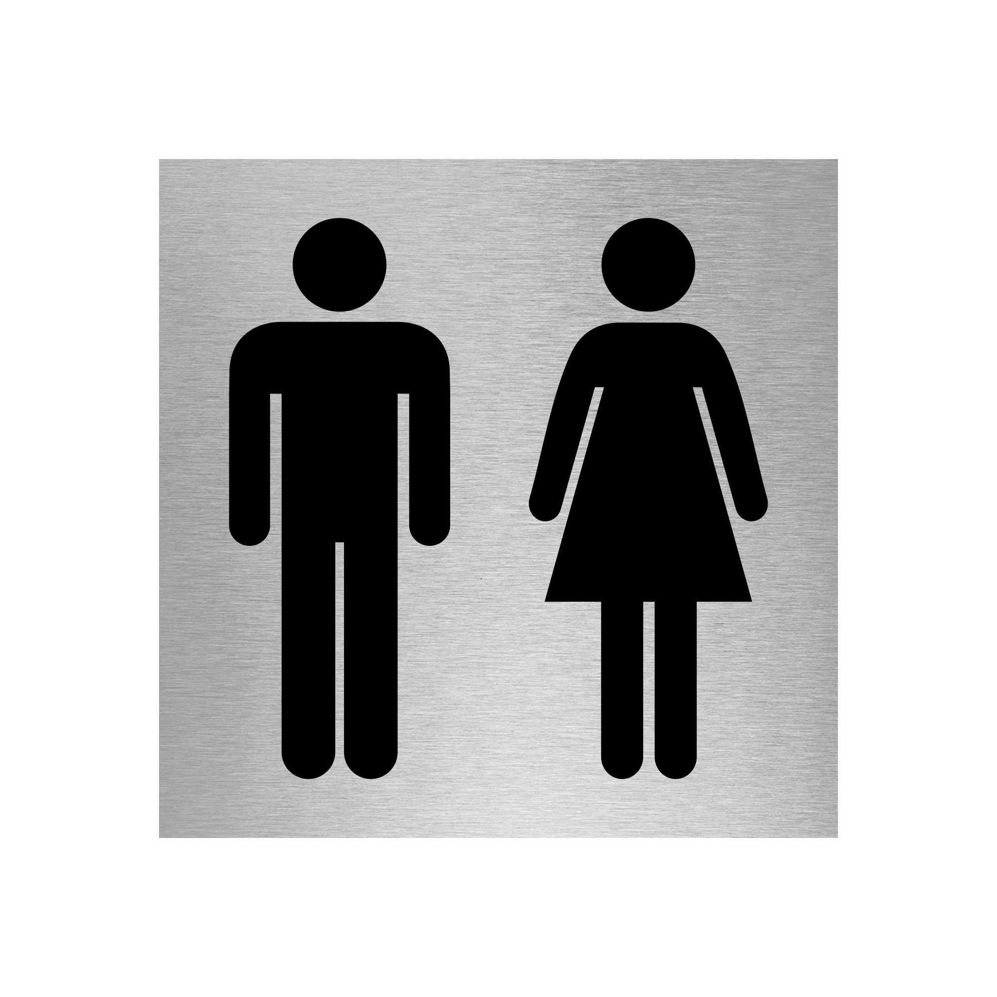 Slimline Aluminium Square Toilet Signs (6 Designs) | Viro Display UK